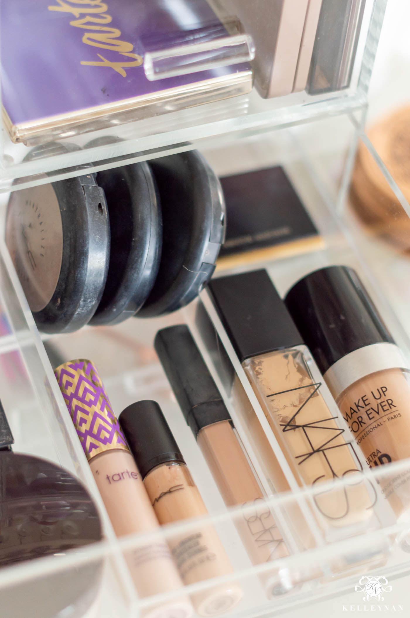 Acrylic Makeup Organizer & Ideas to Store Makeup on the Bathroom Counter