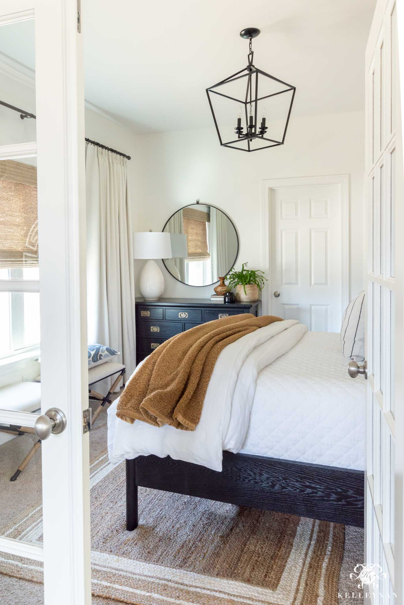 Small Guest Bedroom Design (with French Doors!)