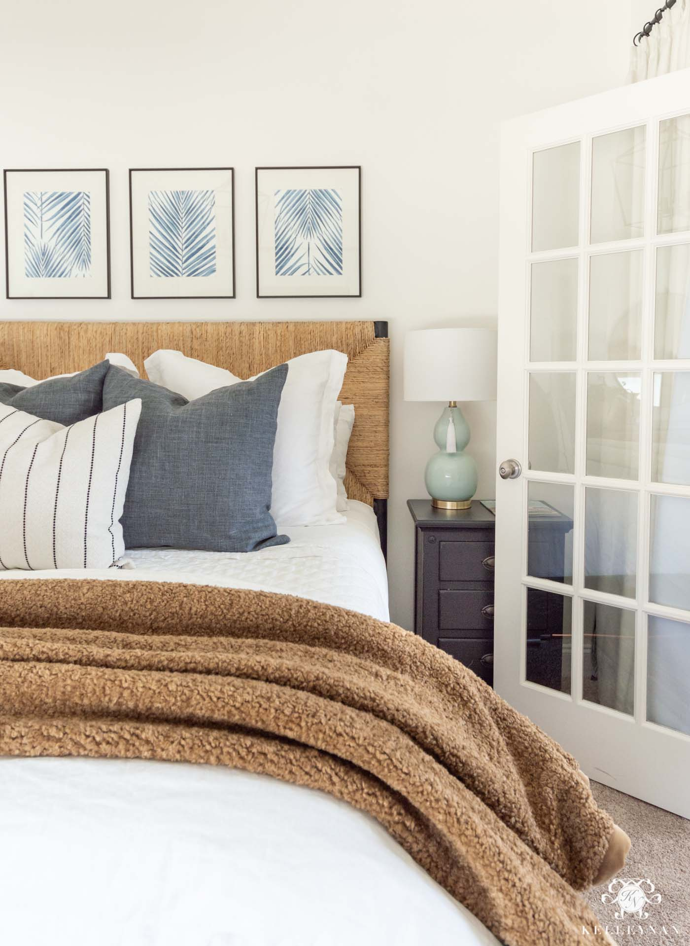 Blue and White Guest Bedroom Decor