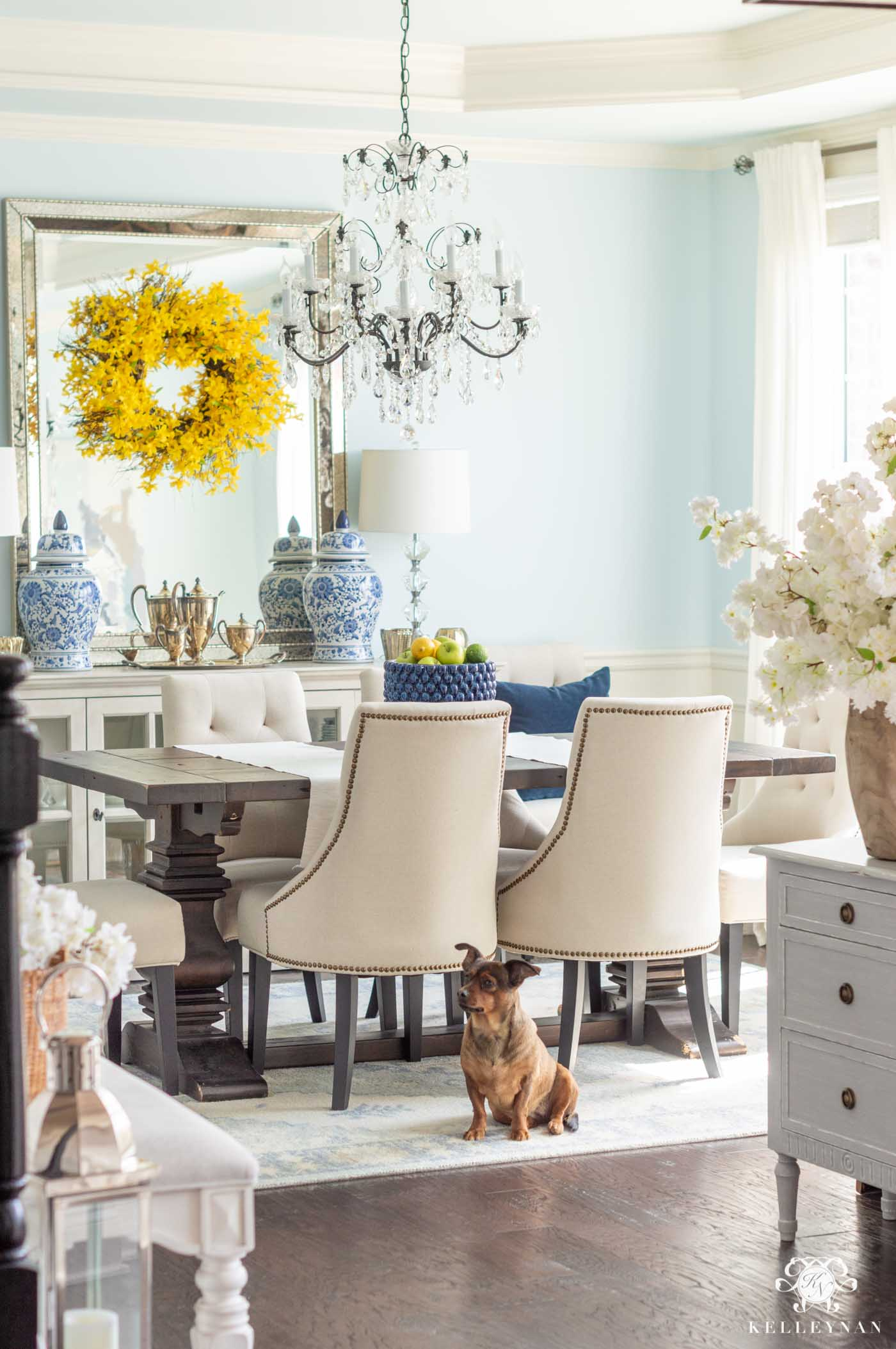 Blue and Yellow Spring Decorating Ideas