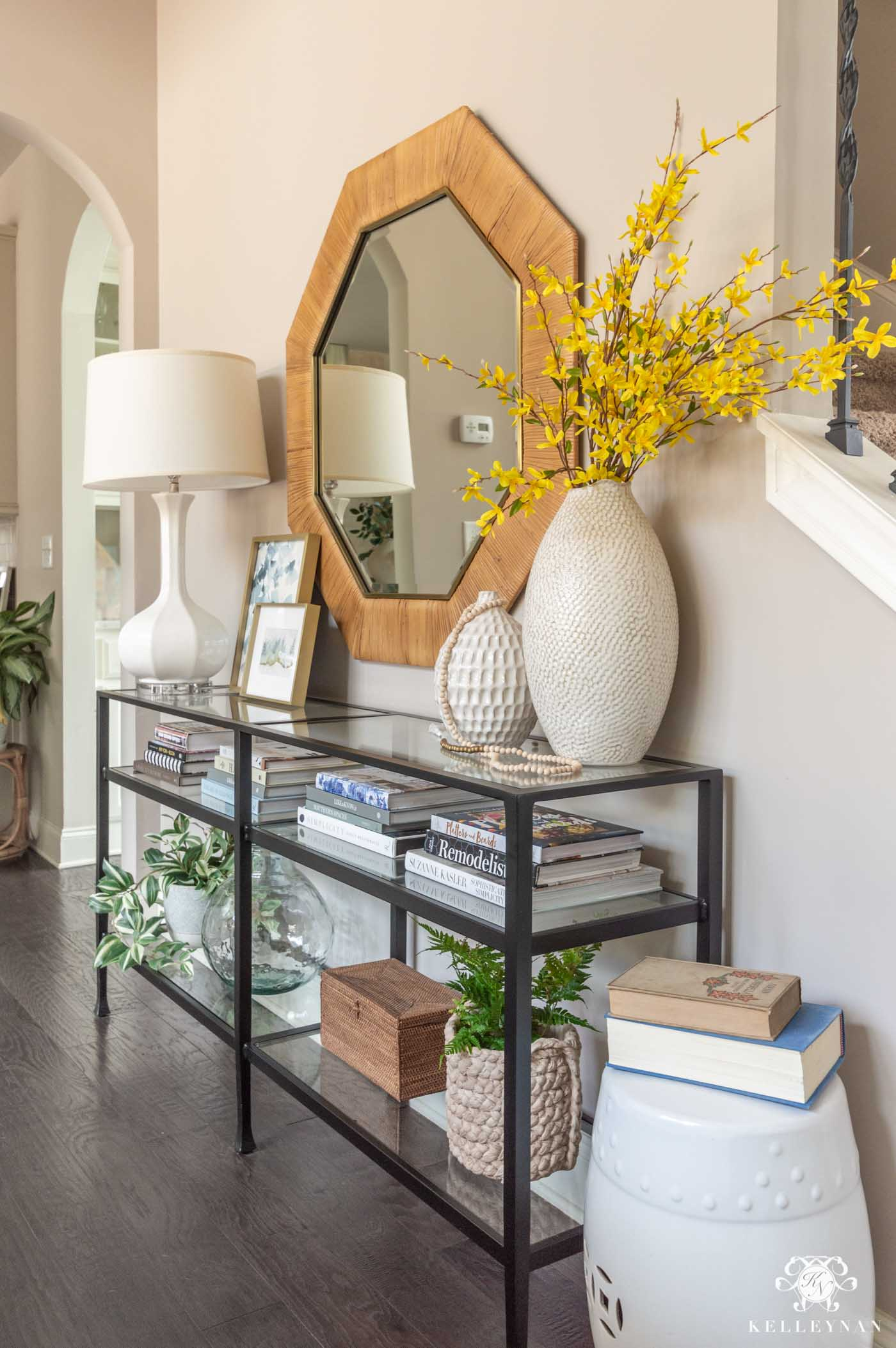 How to Style and Decorate a Console Table for Spring