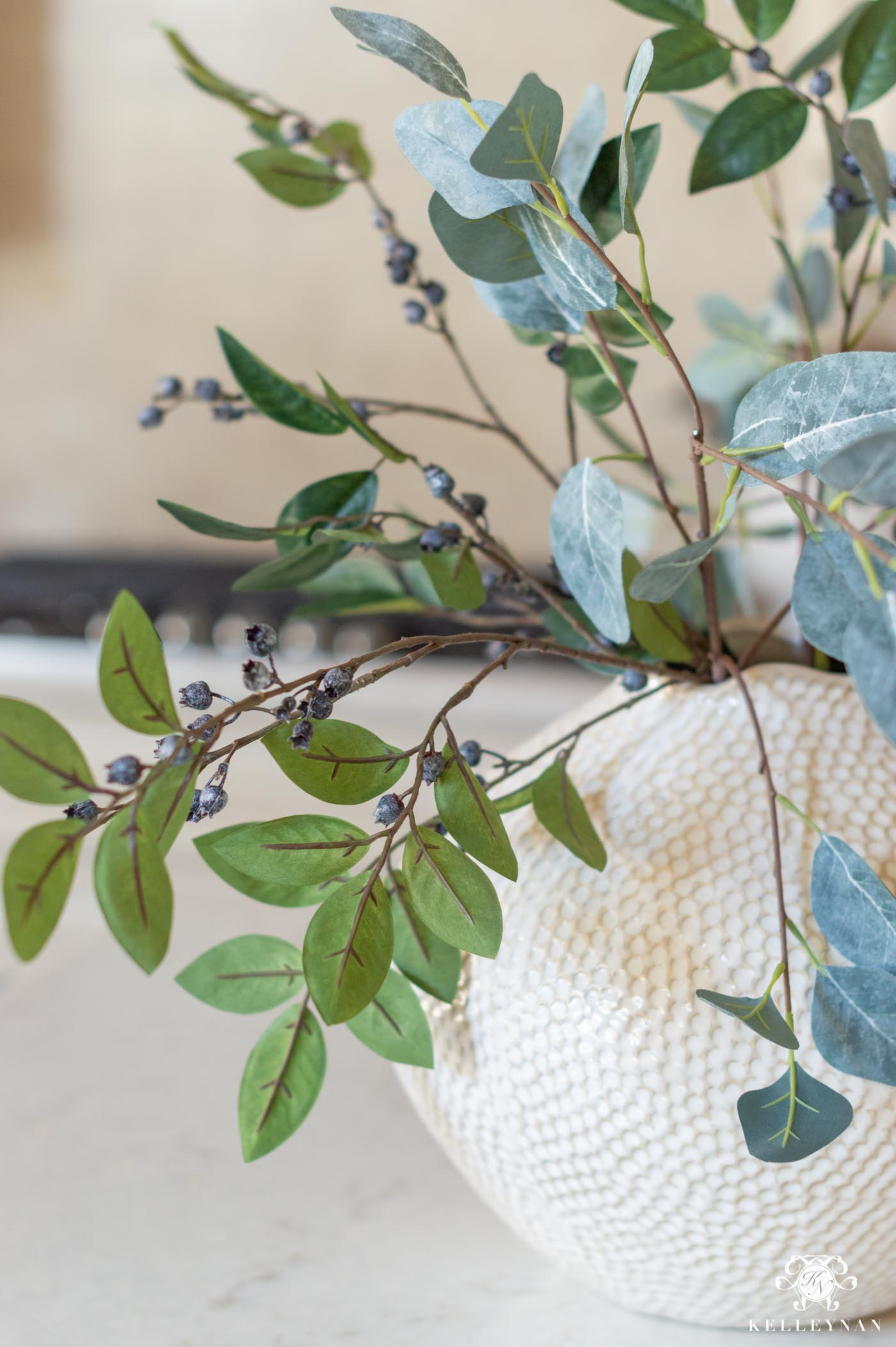 Faux Blueberry Stems and the Best Fake Flowers