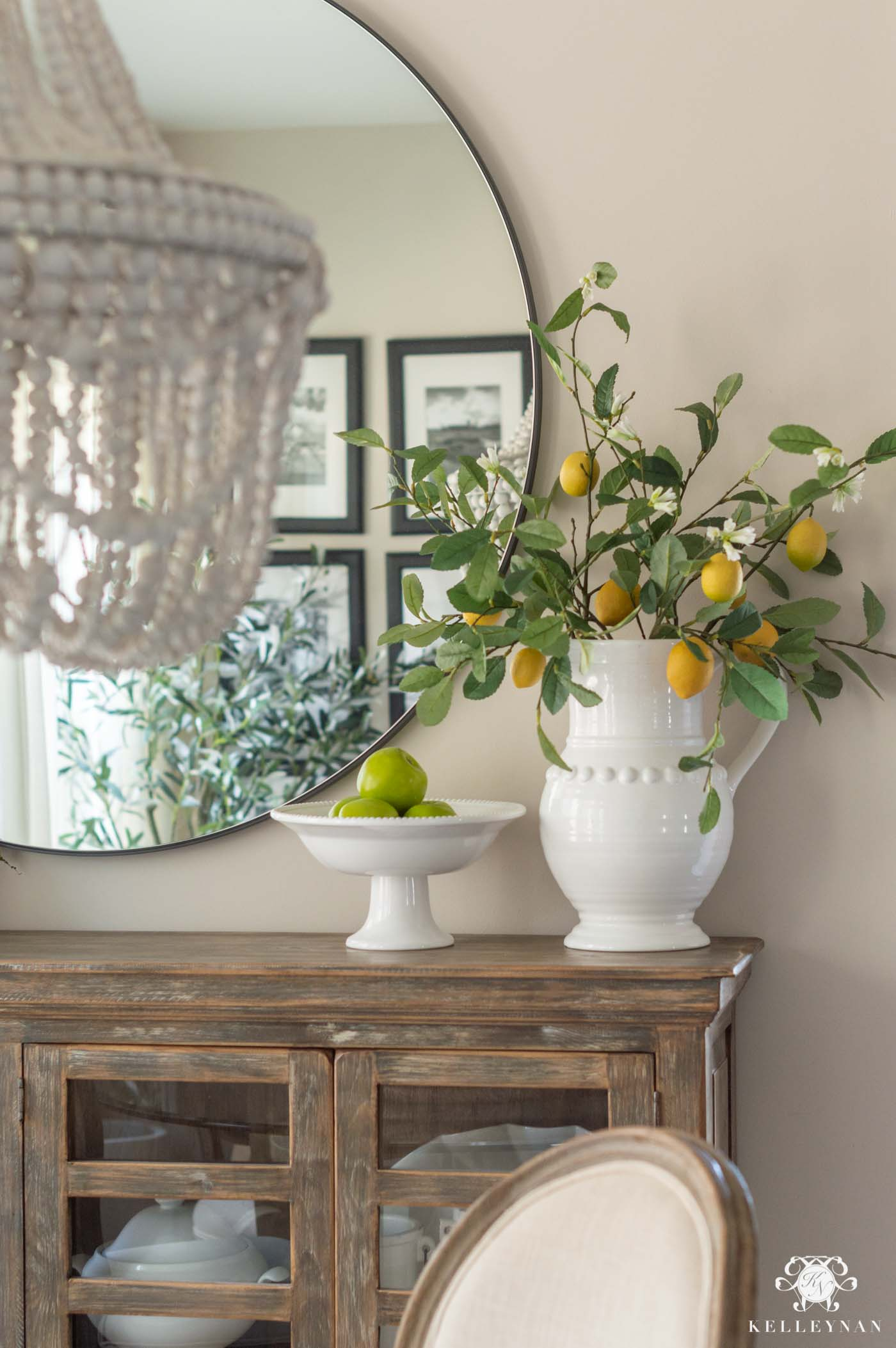 Easy Spring Decorating with Faux Flowers and Stems