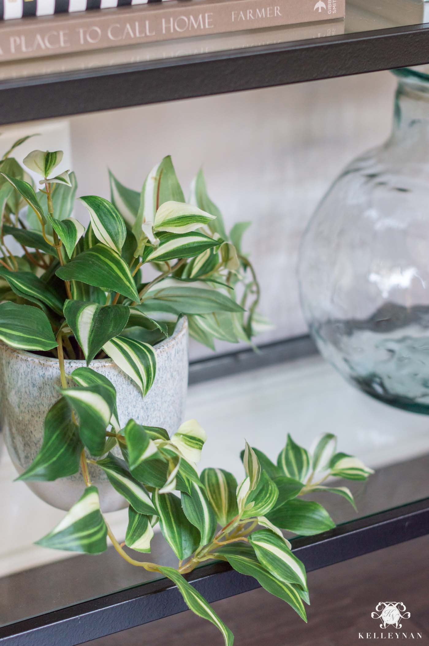 Mixing Faux and Live Plants in Spring Decor