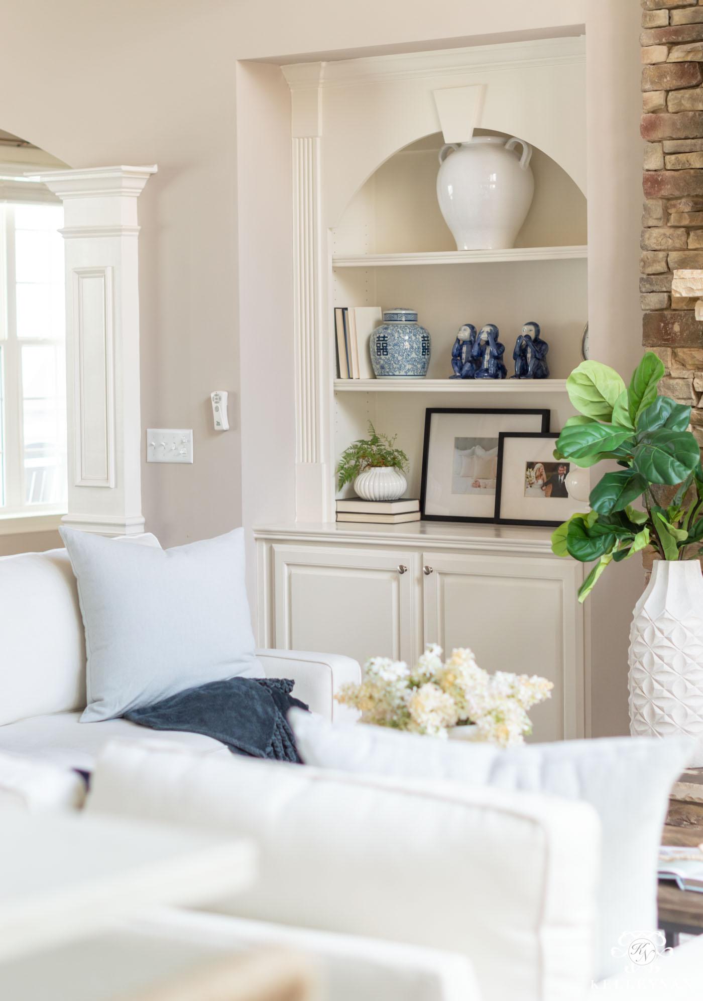 Blue Spring Home Decor with Neutals