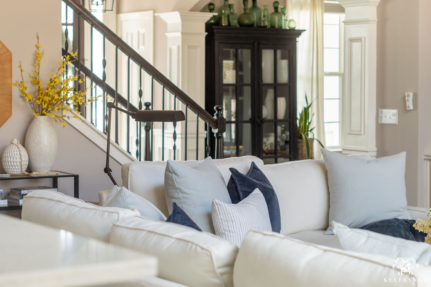 Spring Home Decor with Blue and Yellow