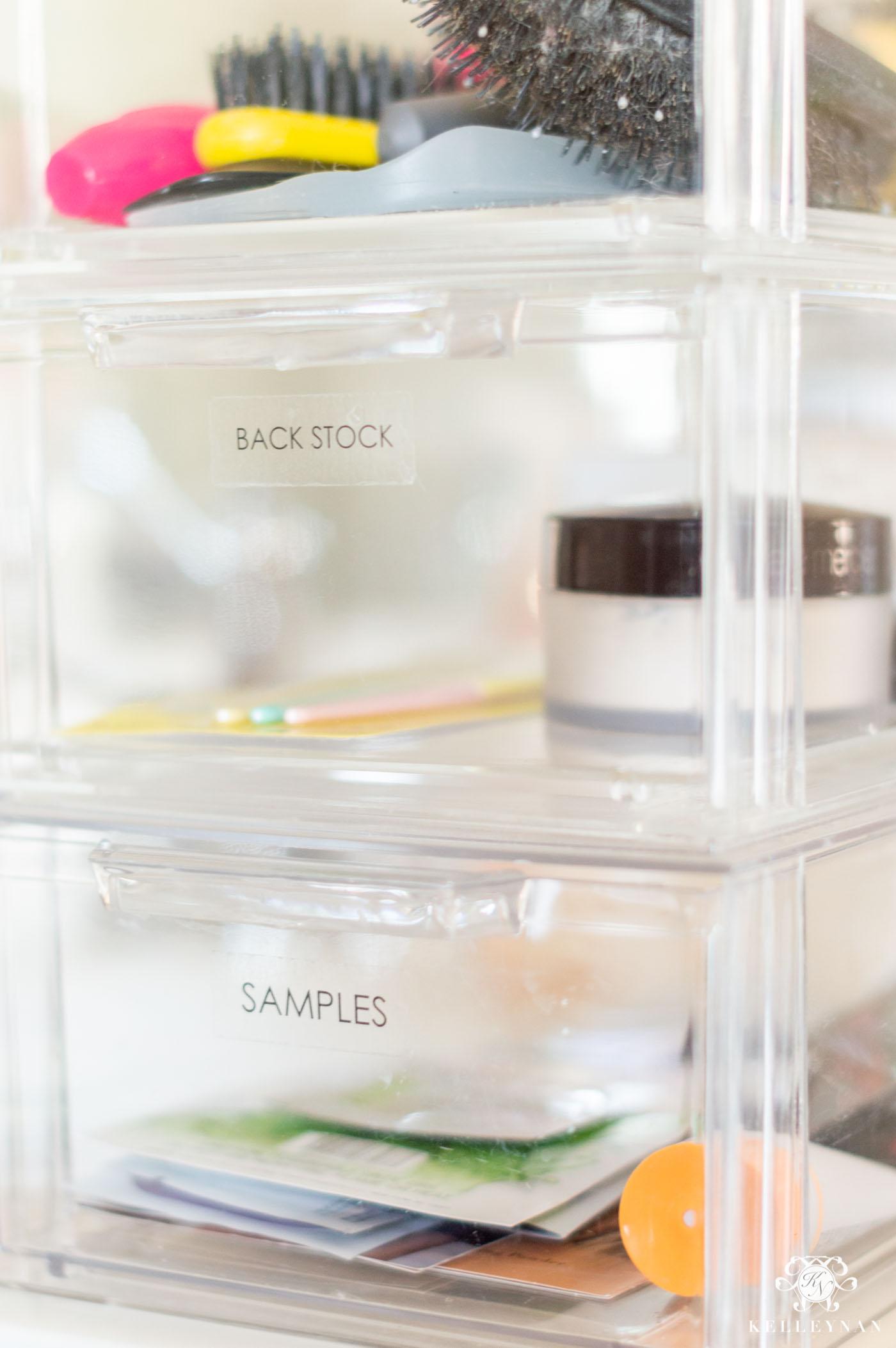 Organized Bathroom Cabinets