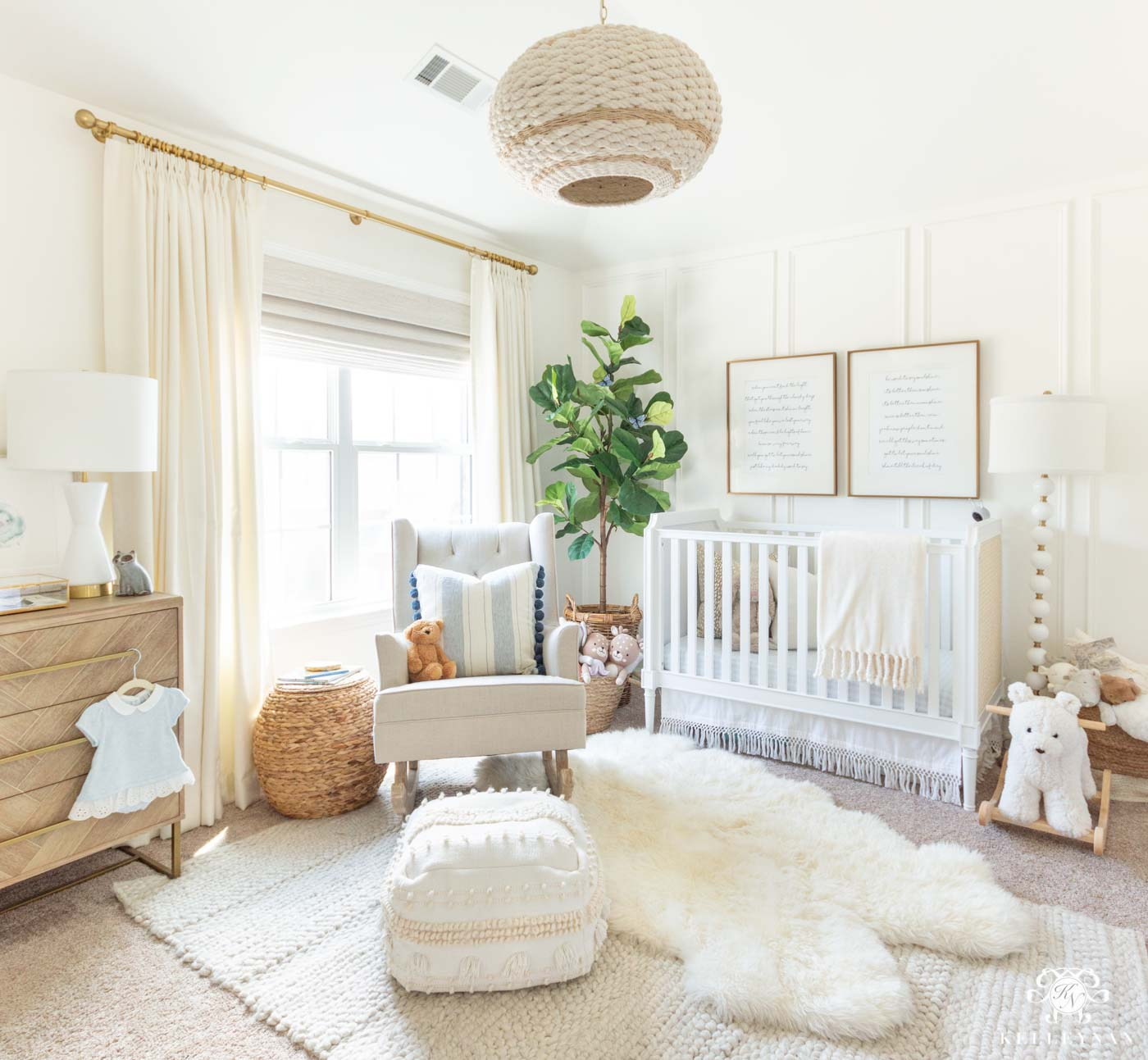 Blue baby girl nursery ideas, color scheme, and design