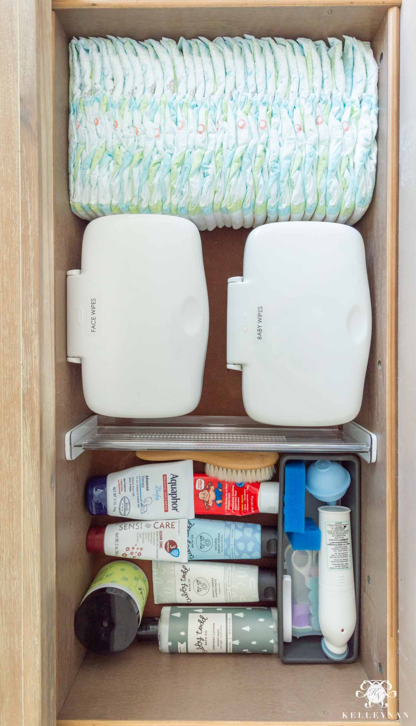 Nursery Dresser Organization and Organizing Your Baby's Changing Station