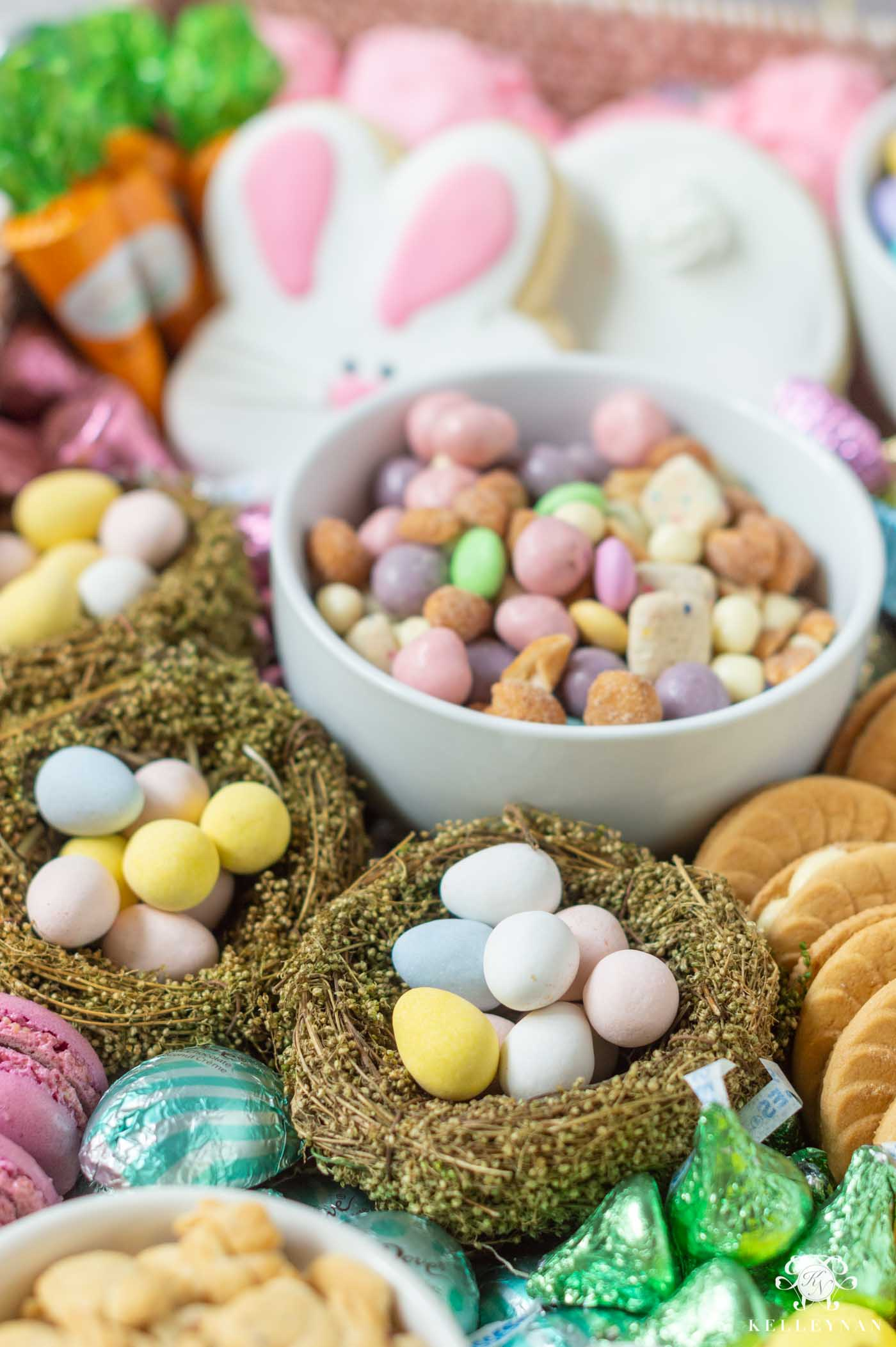 Easy Easter Dessert Idea -- a Spring Candy and Dessert Board