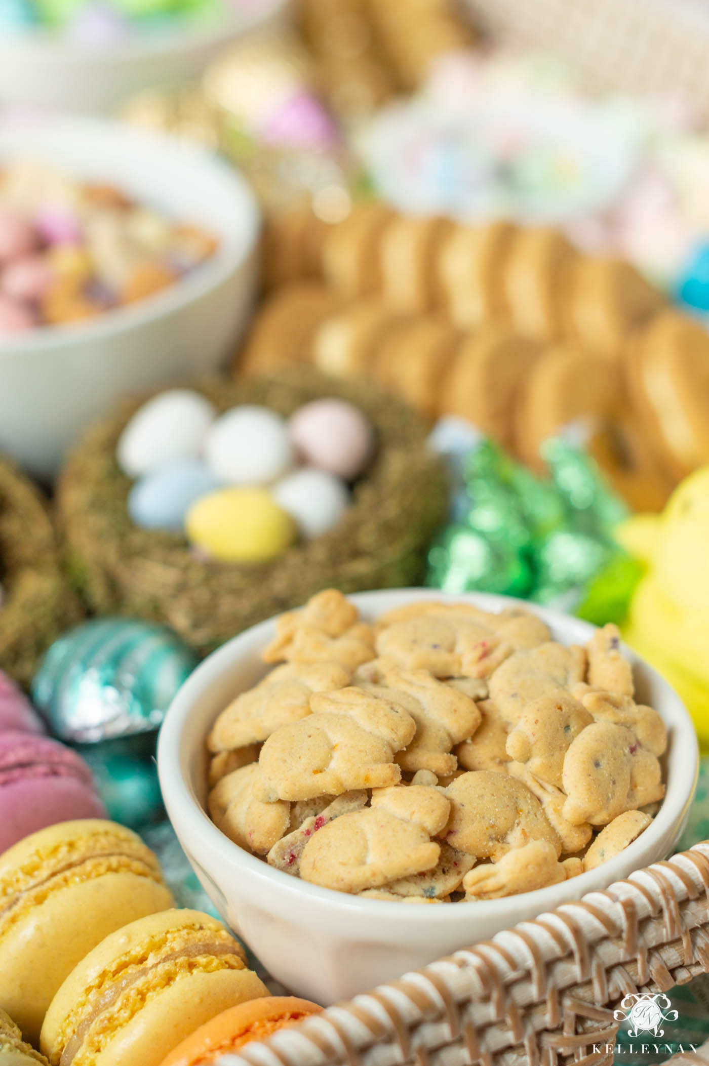 Easter Candy Platter and Display