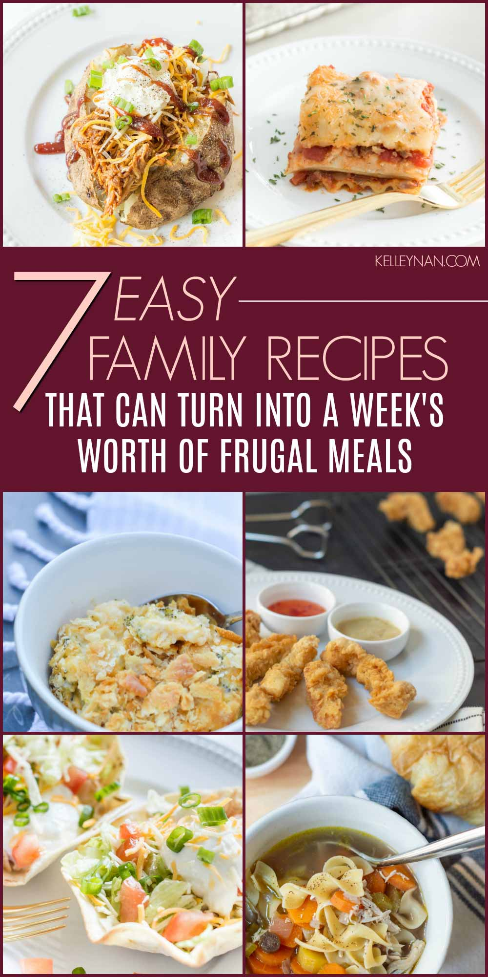 7 Frugal Family Meals that Will Feed You for a Week!
