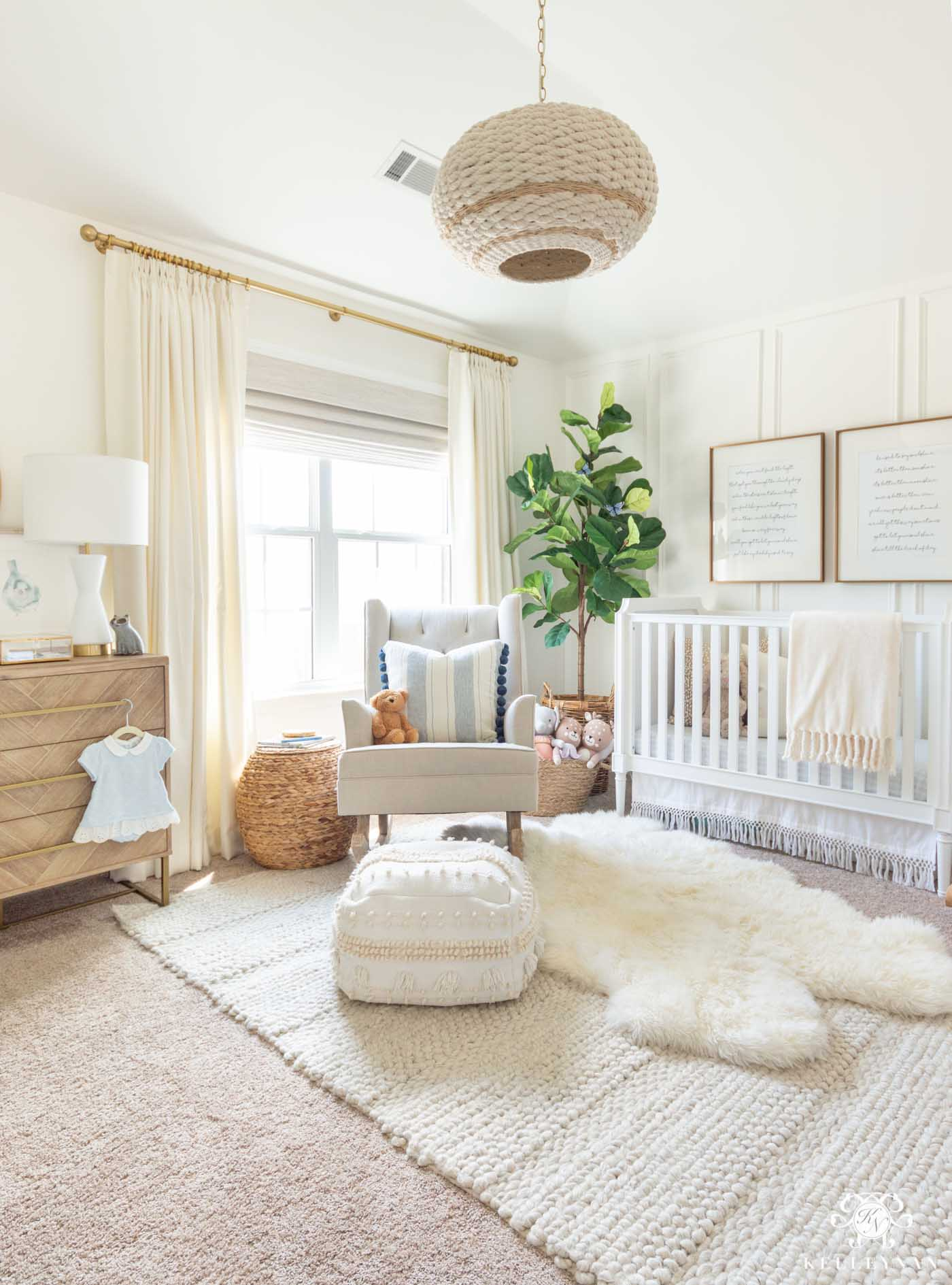 Blue Baby Girl Nursery Ideas and Unique Color Scheme