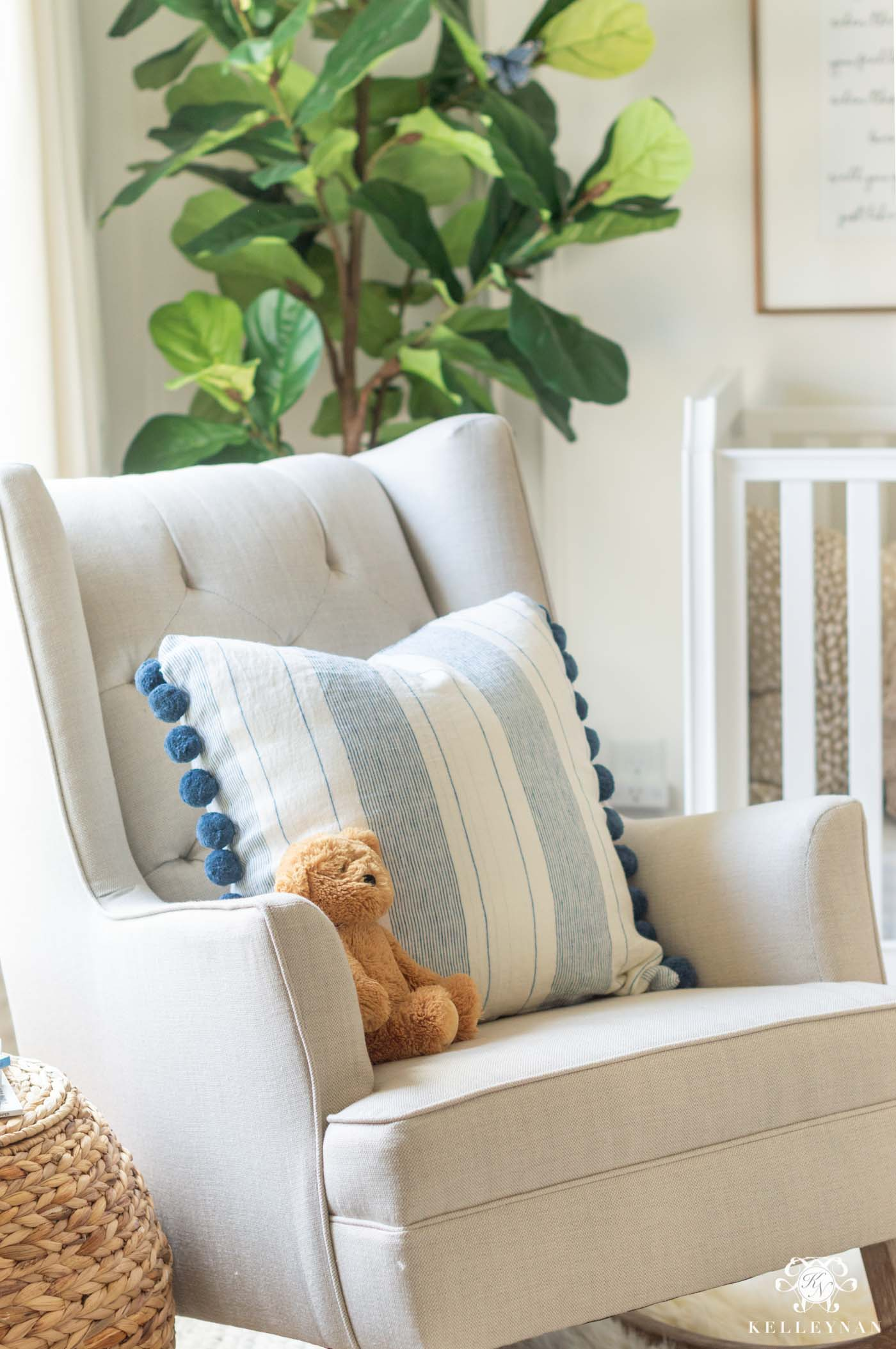 Blue and White Baby Girl Nursery Ideas