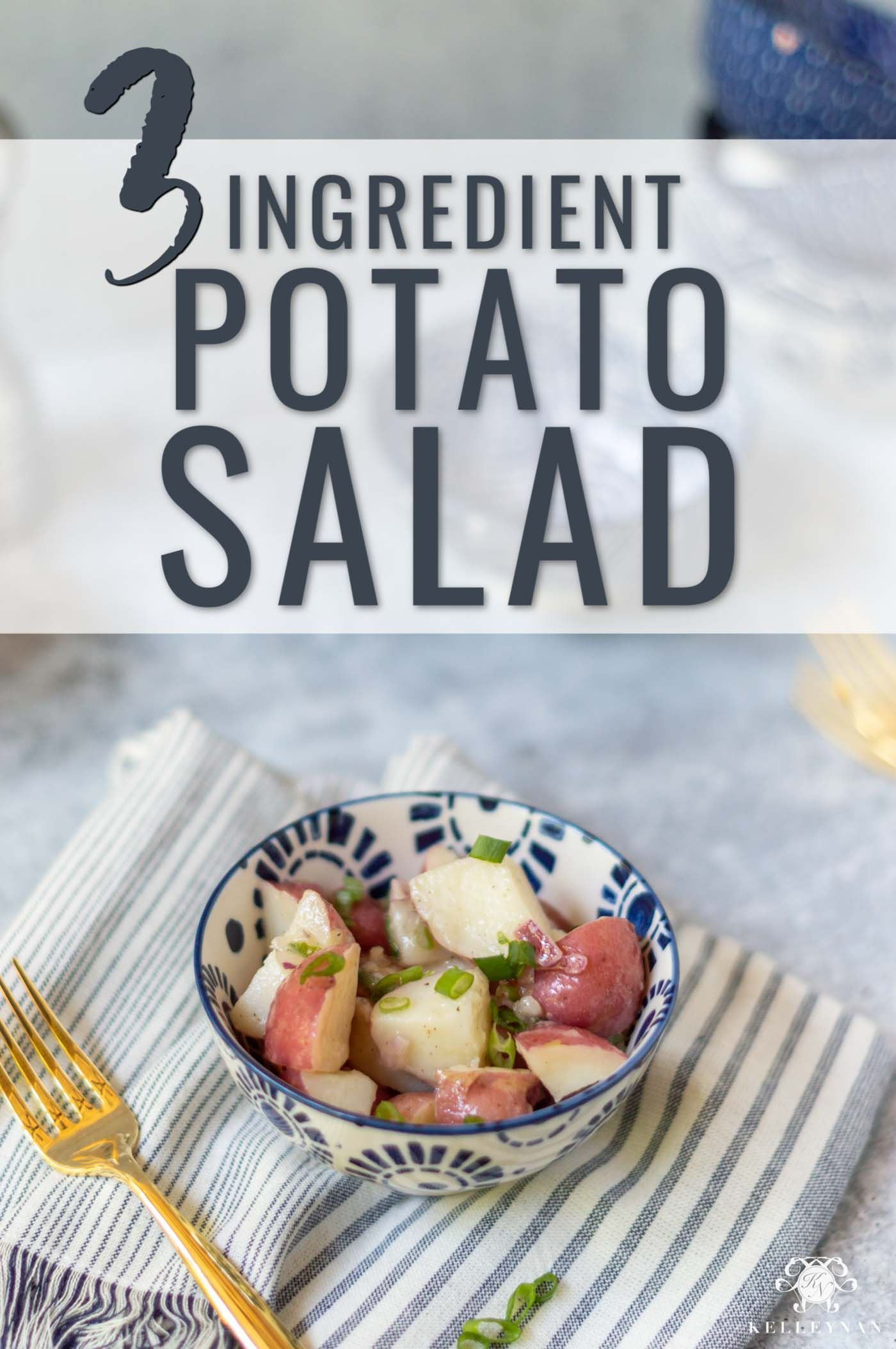 Easy Potato Salad Recipe -- Perfect for a Dinner Side -- With Only 3 Ingredients!