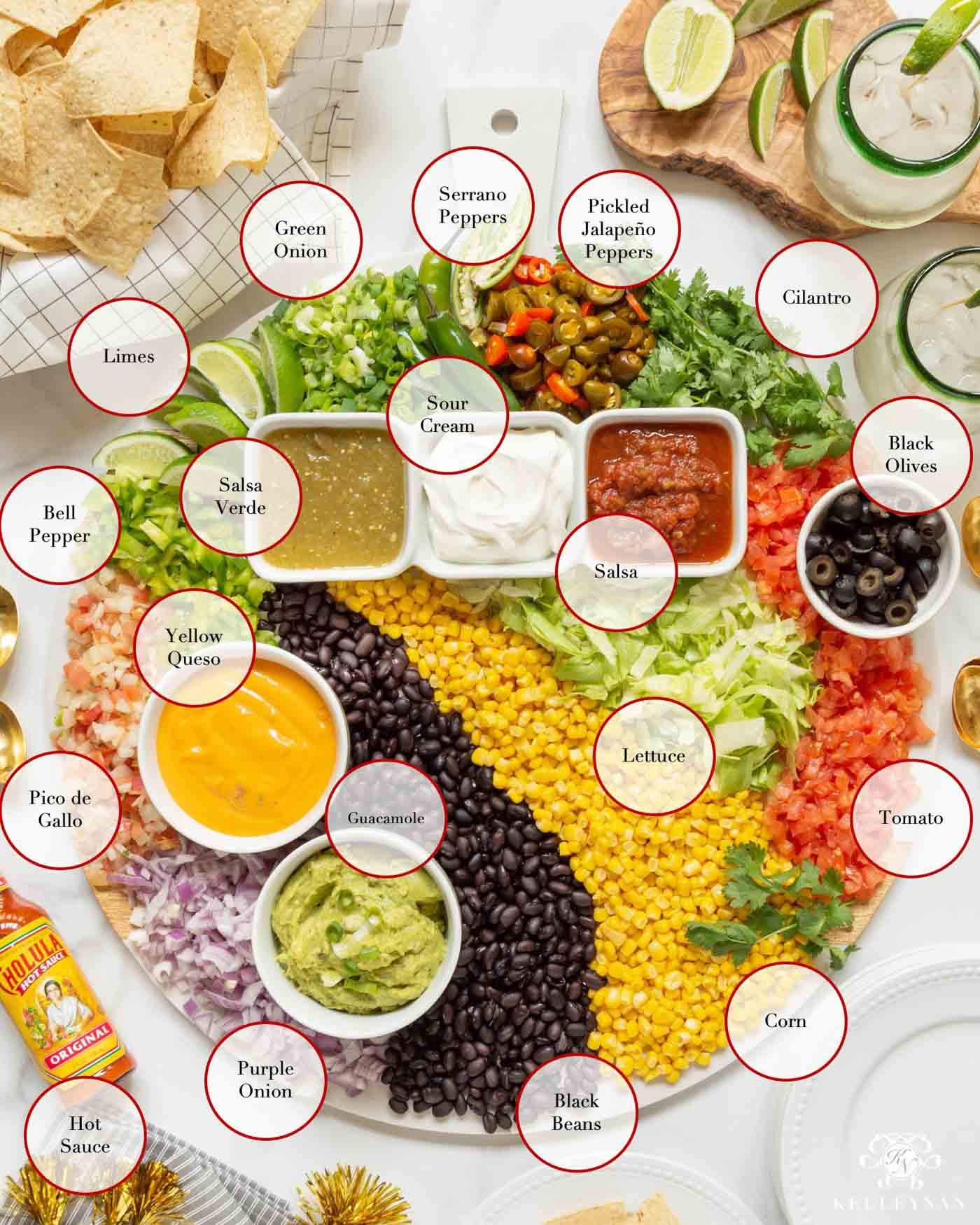 Cinco de Mayo Party Food Ideas and Nacho Toppings