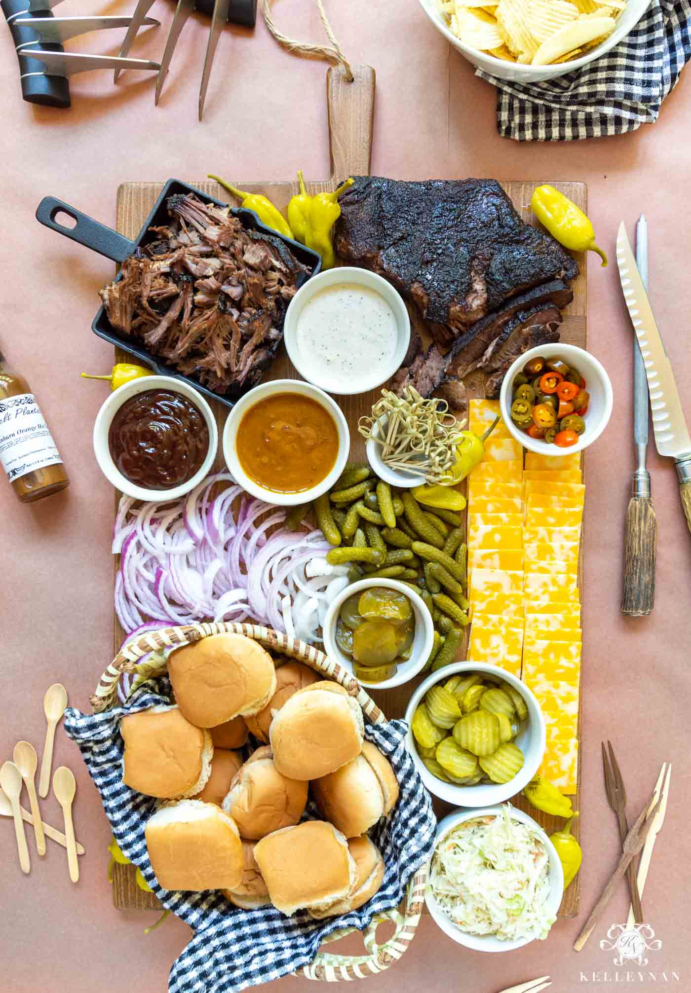 Summer Barbecue Board -- Charcuterie Style!