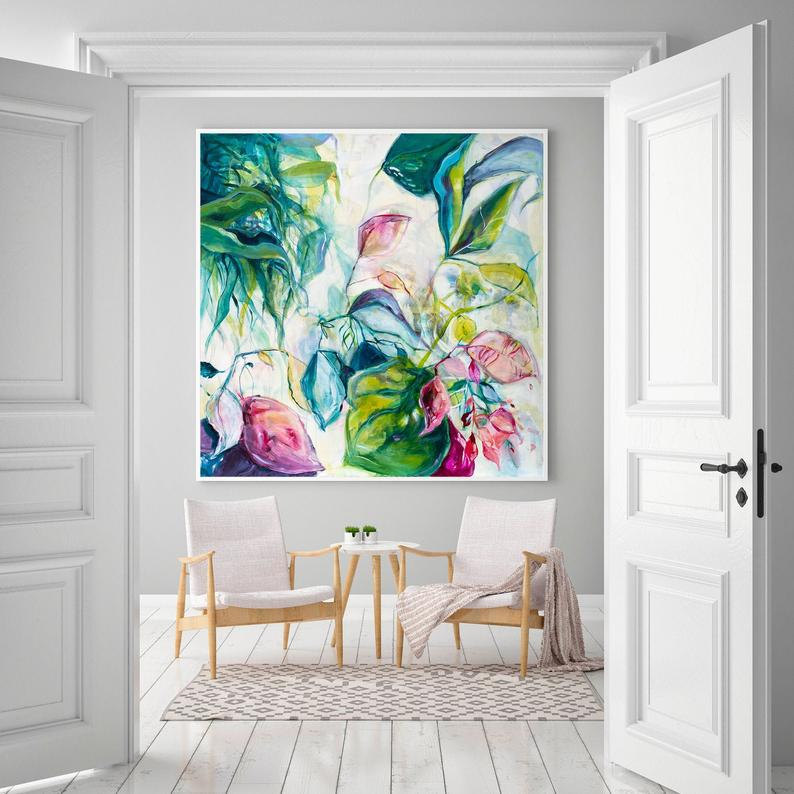 Colorful Artwork with White Walls