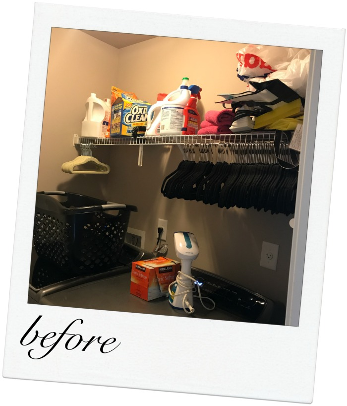 Small Laundry Room Organization Ideas -- Check out the after!