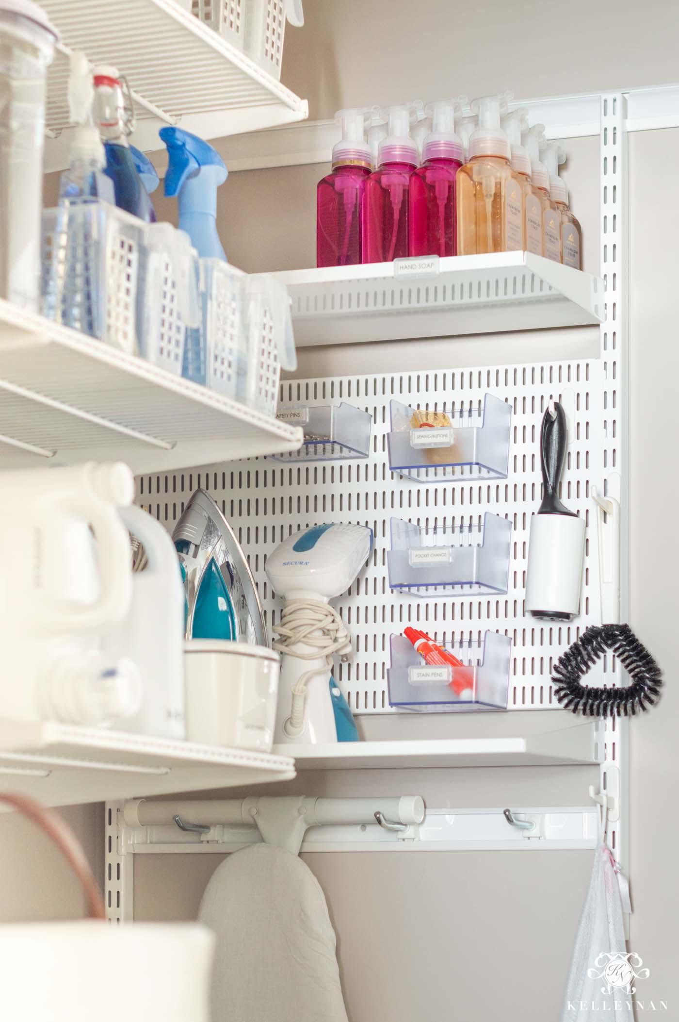 Elfa laundry room storage ideas