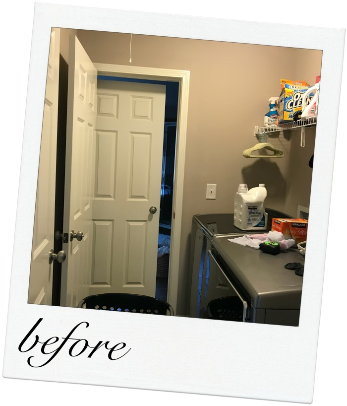 "Small Laundry Room Pass Through -- Check out the ""after""!"