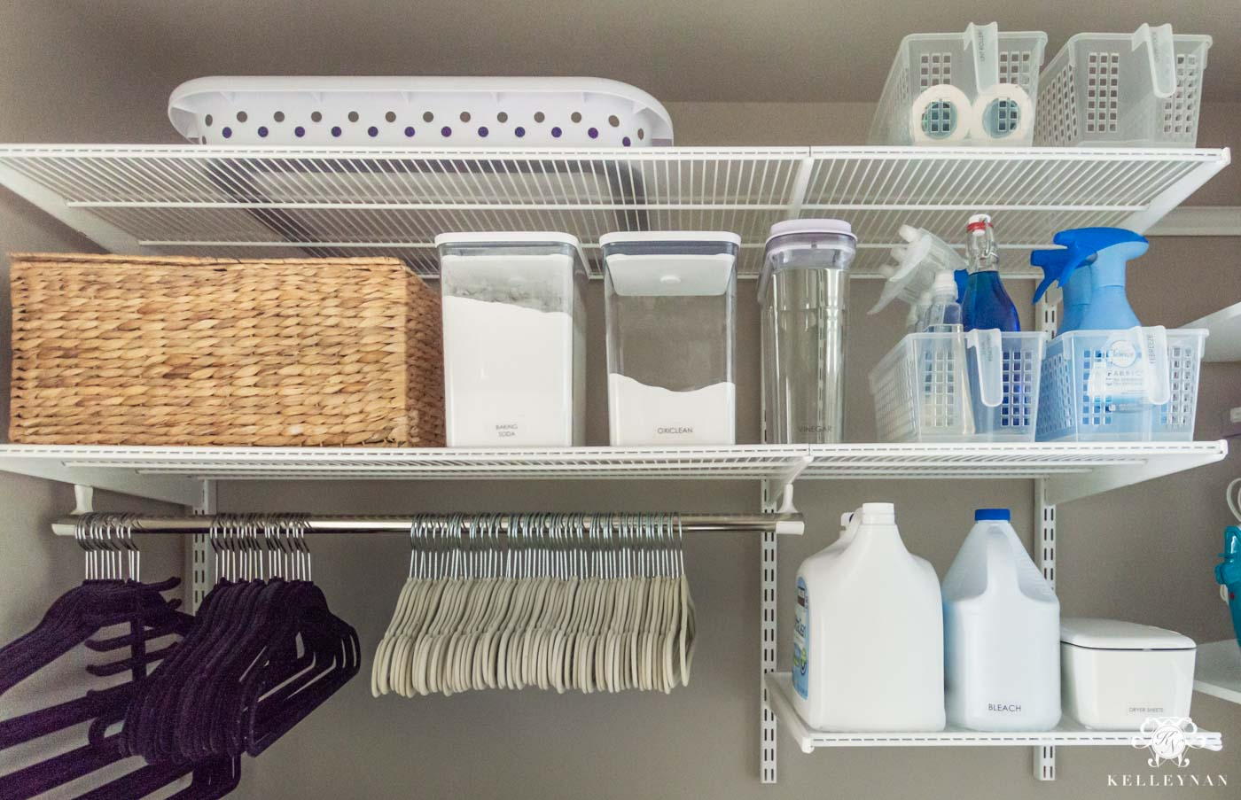 Container Store Elfa System for the Laundry Room