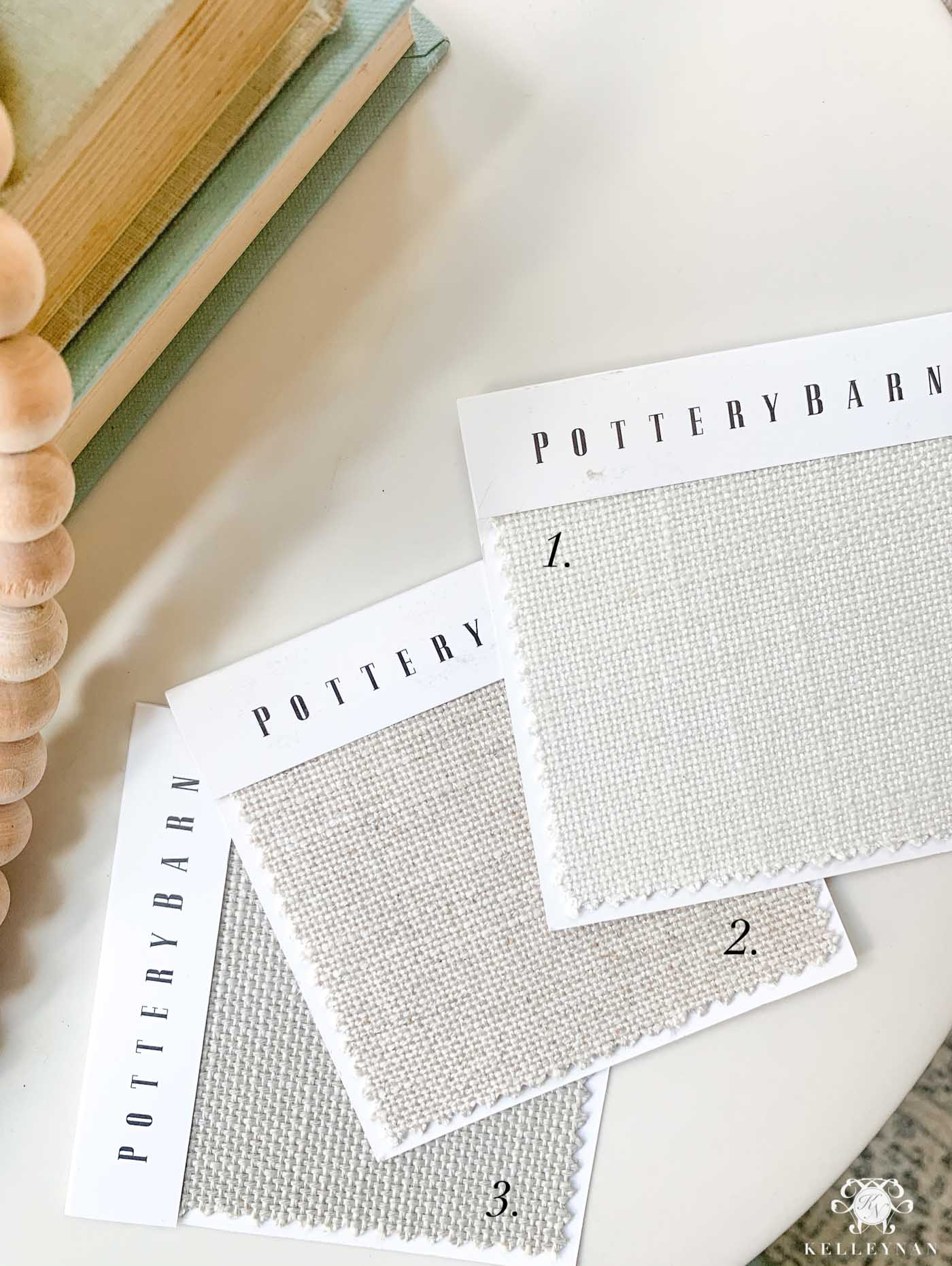 Pottery Barn Light Neutral Fabric Options for Upholstery