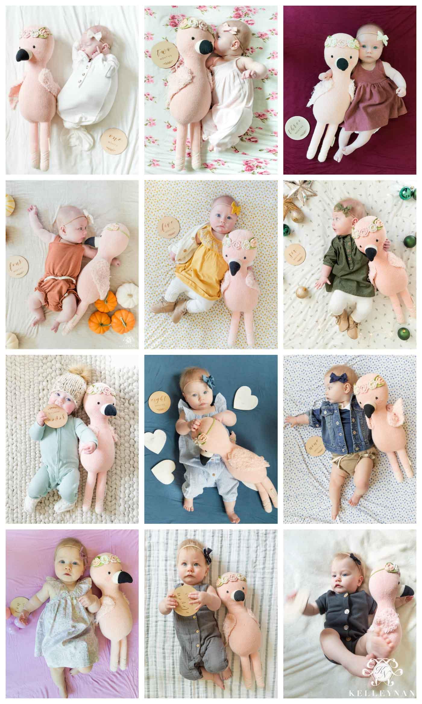 Monthly Milestone Photo Ideas for Babies -- Rainbow!