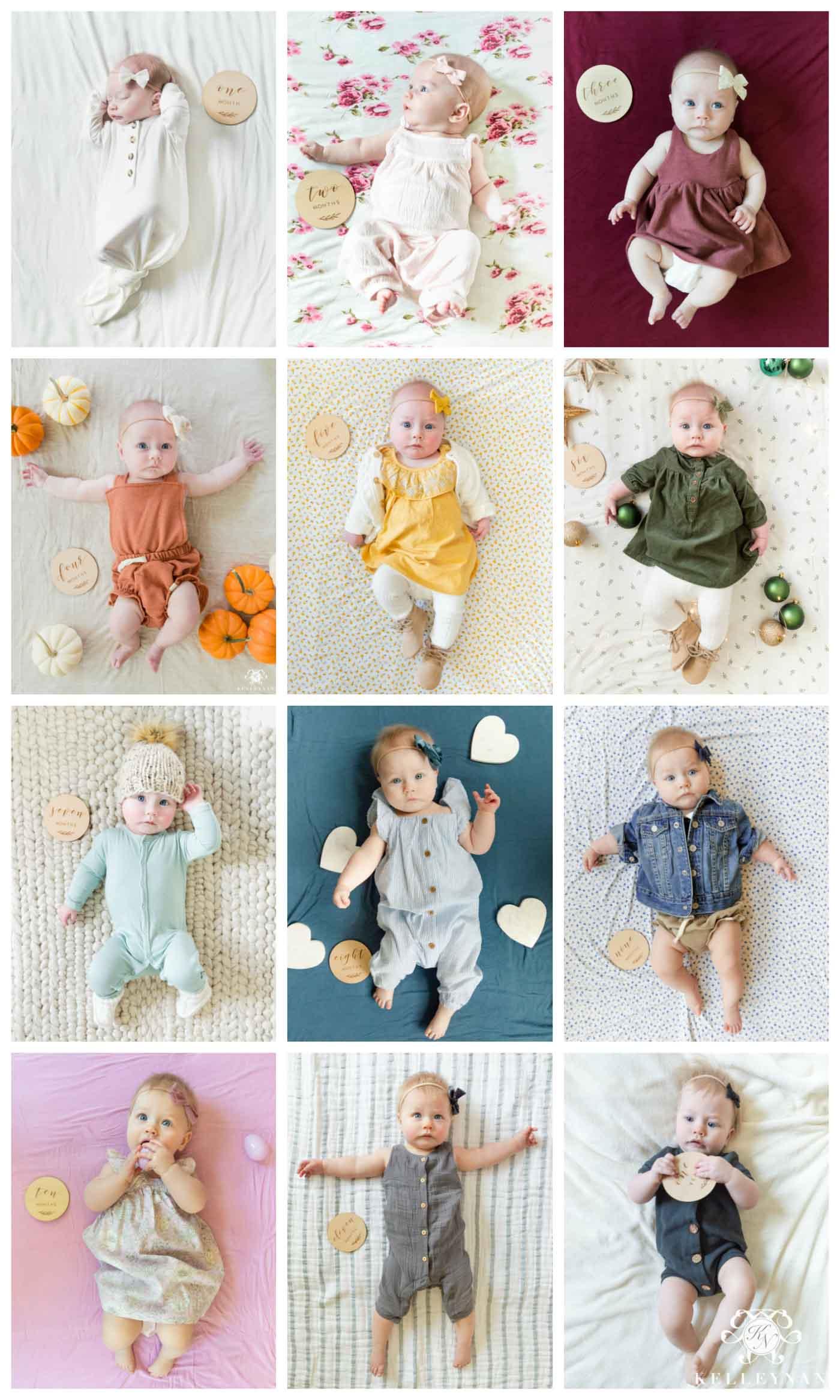Baby Monthly Milestone Photo idea -- Rainbow!