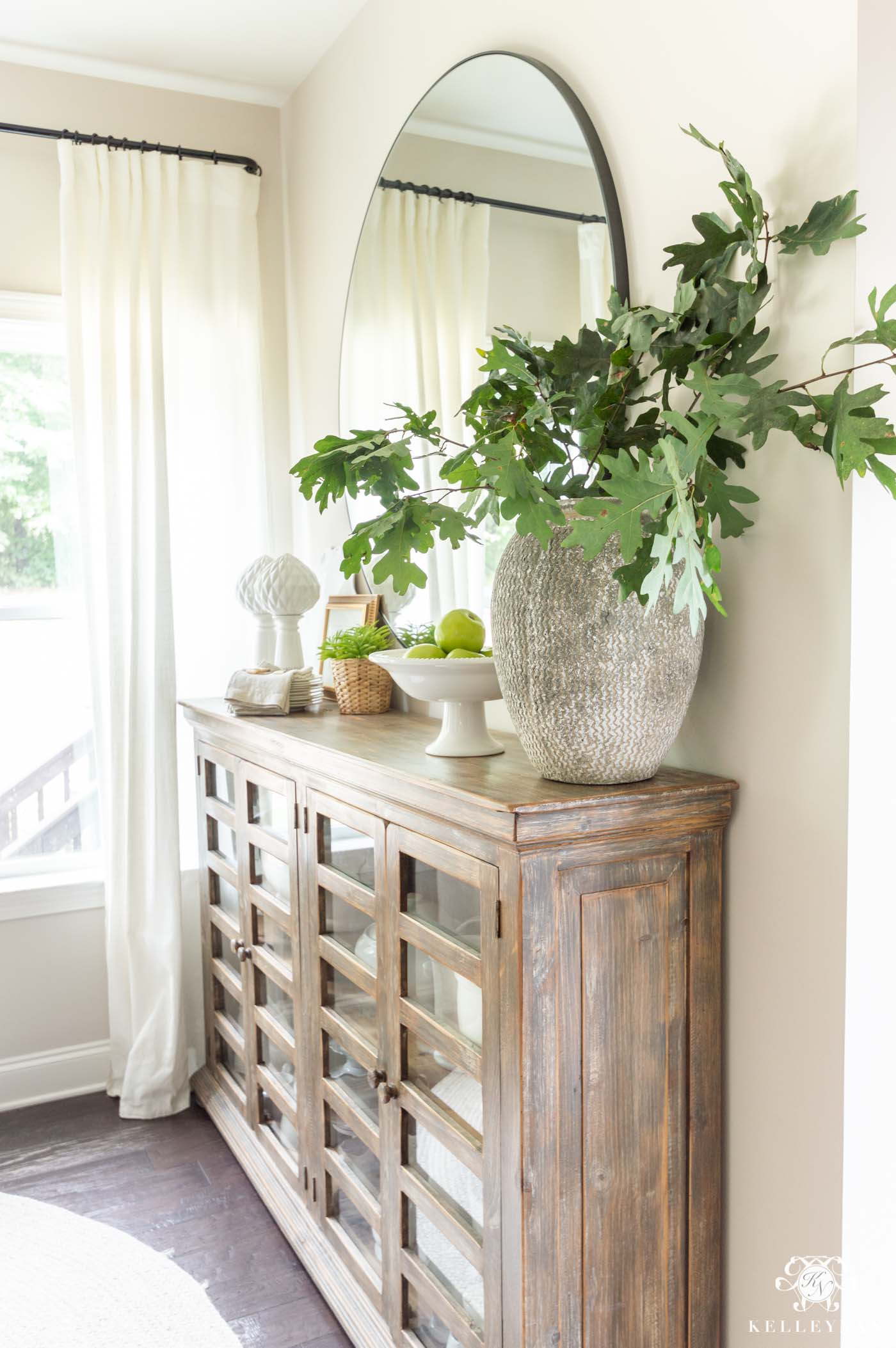 Green Fall Foliage Arrangements for Early Fall Home Decor