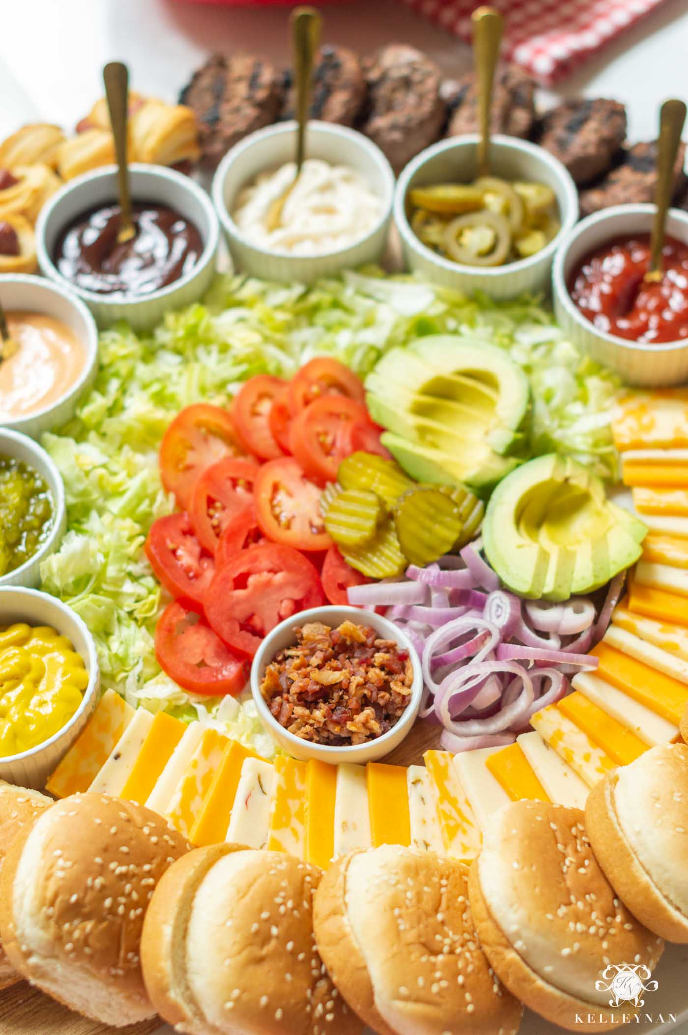 Build Your Own Burger Bar -- Toppings for the Perfect Bar for your Cookout