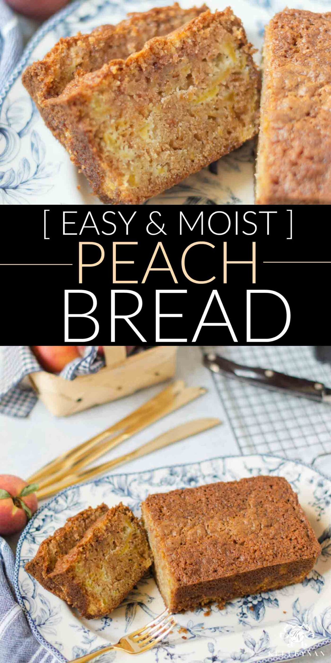 Switch it up! This easy, moist peach bread will be an awesome change from the banana bread you're used to!