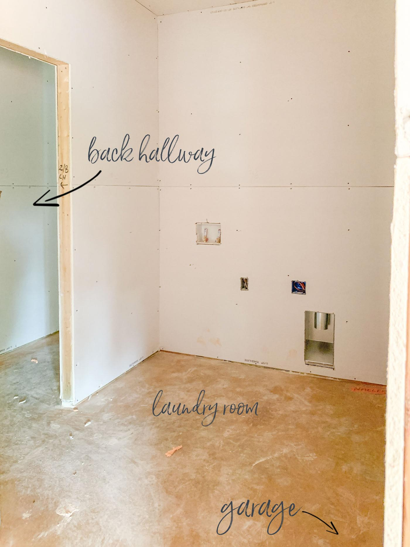 Small Laundry Room with Mudroom Construction