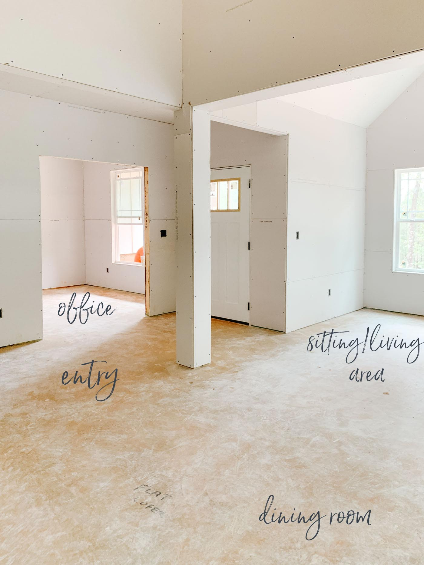 Open Concept Ranch Home Construction