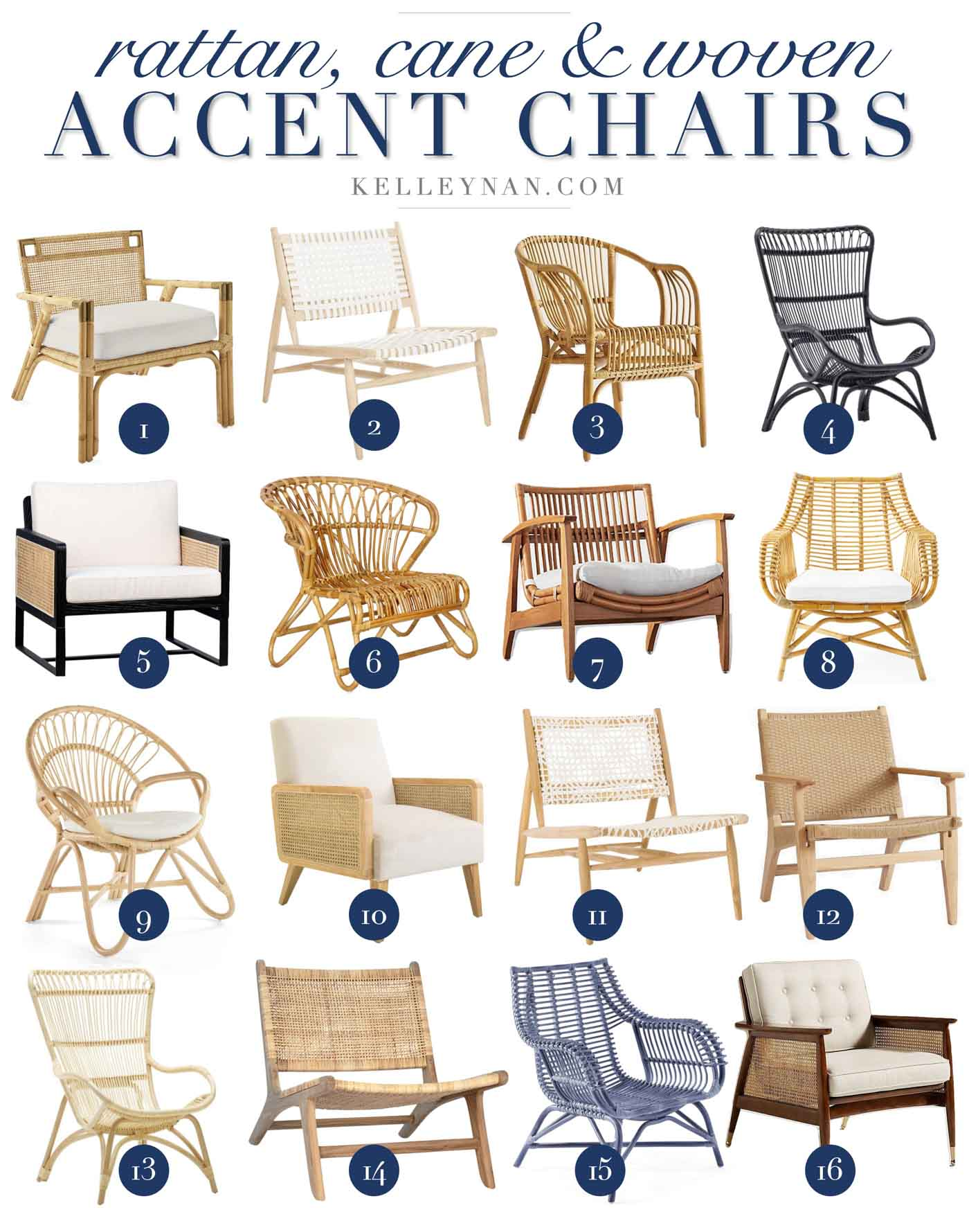 Best Rattan, Cane and Woven Accent Chairs for All Budgets!