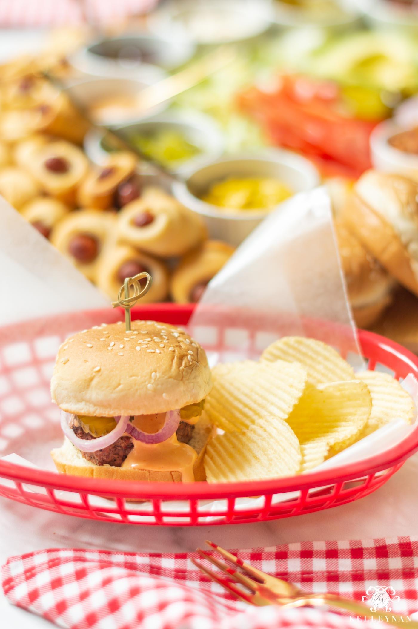 Slider Burger Toppings