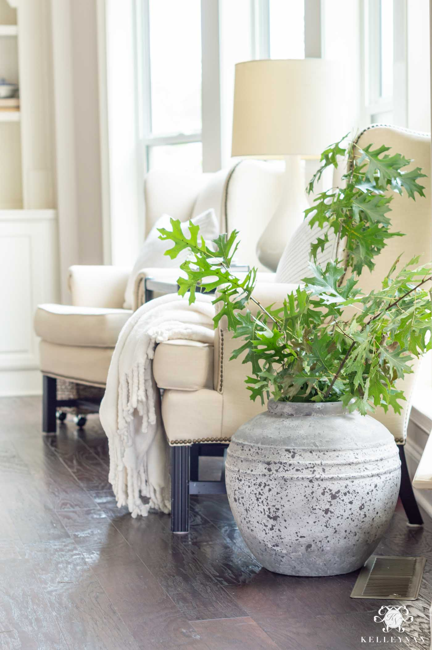 How to Decorate Your Home in Early Fall with Stems and Foliage from Outside
