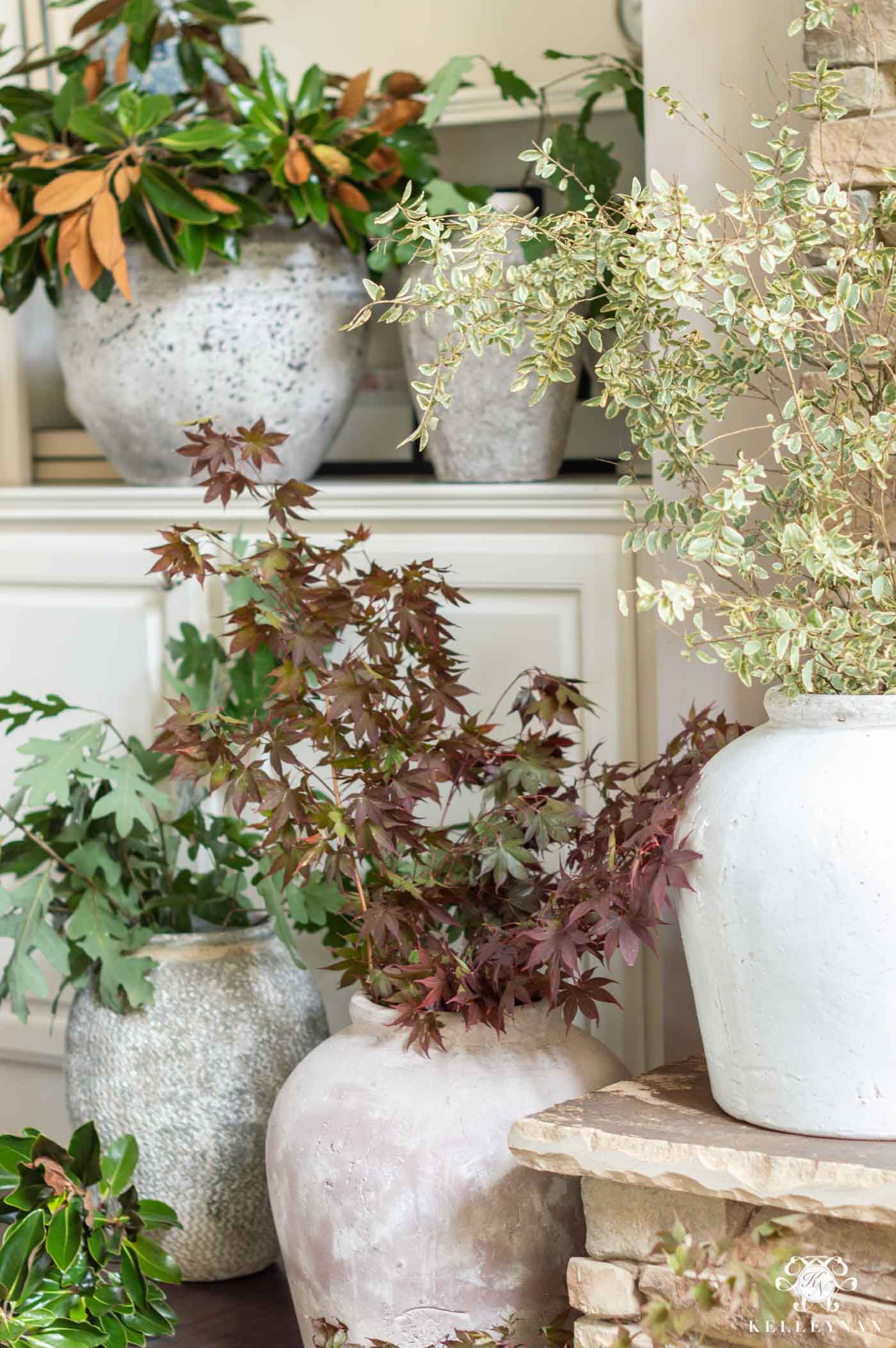 Fall Foliage Statement Arrangements and Centerpieces