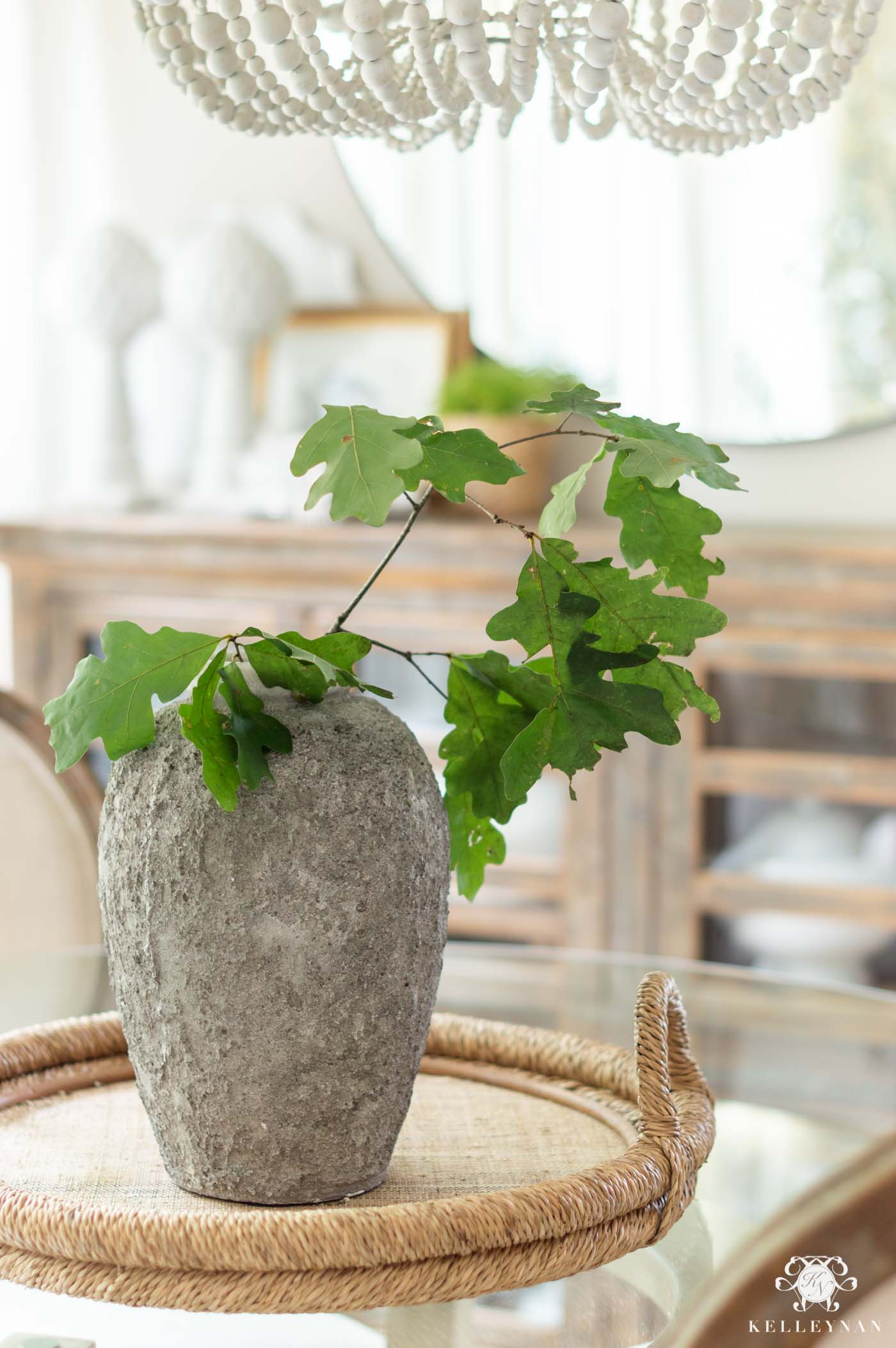 Simple Oak Leaf Centerpiece Arrangements