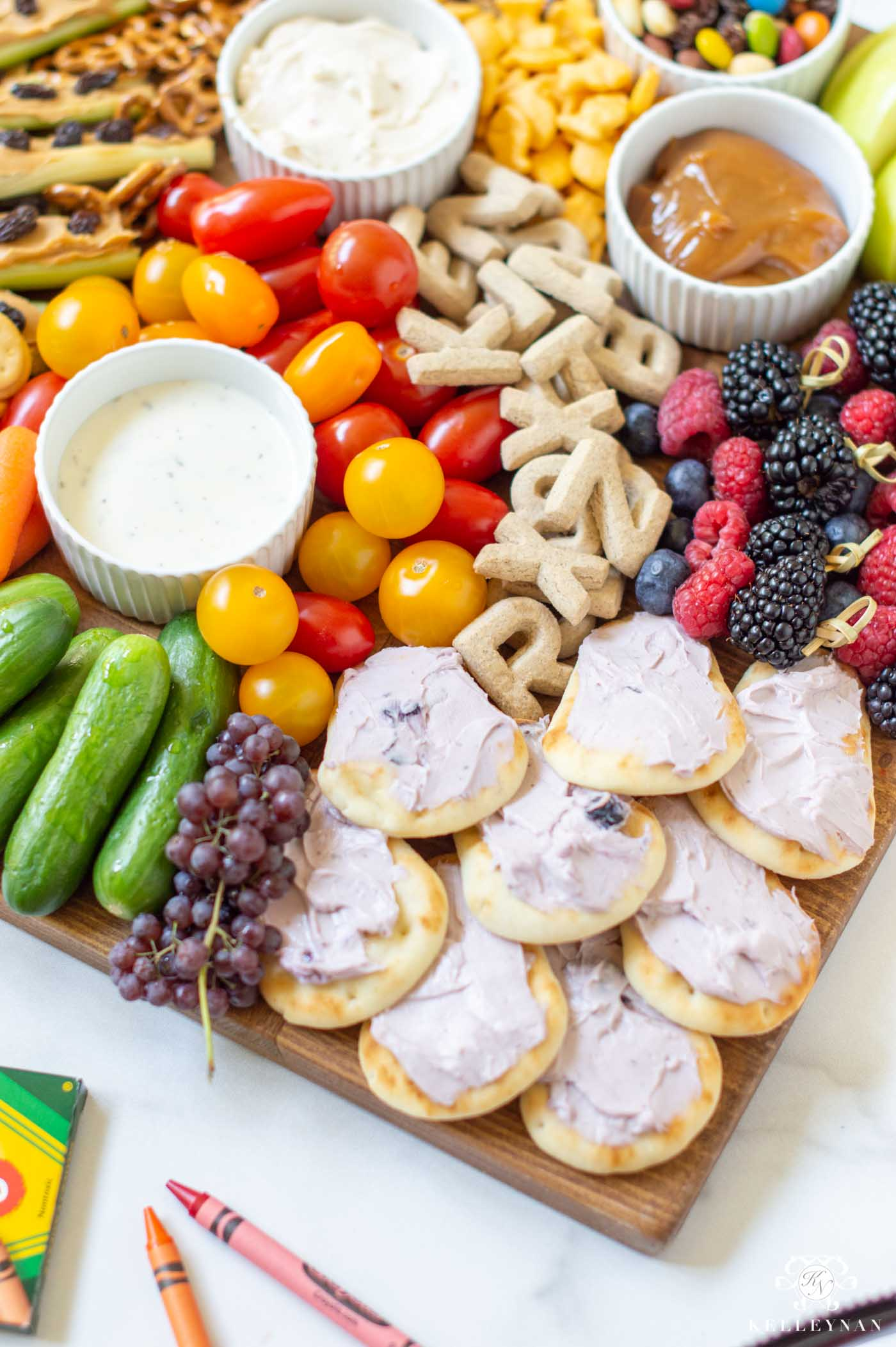 Kid-Friendly Charcuterie Snack Board
