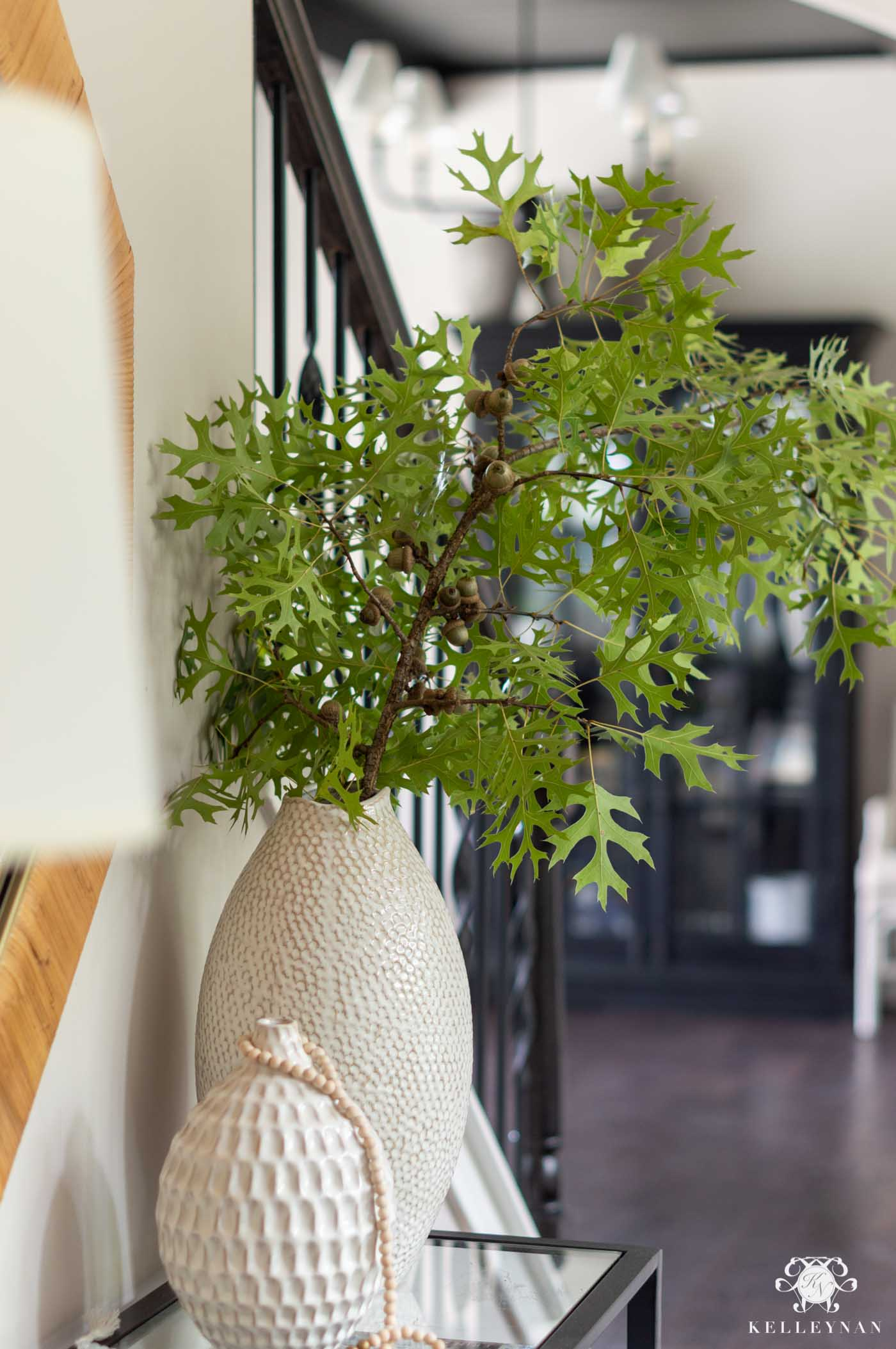 Easy Fall Decor Ideas with Real Oak Branches