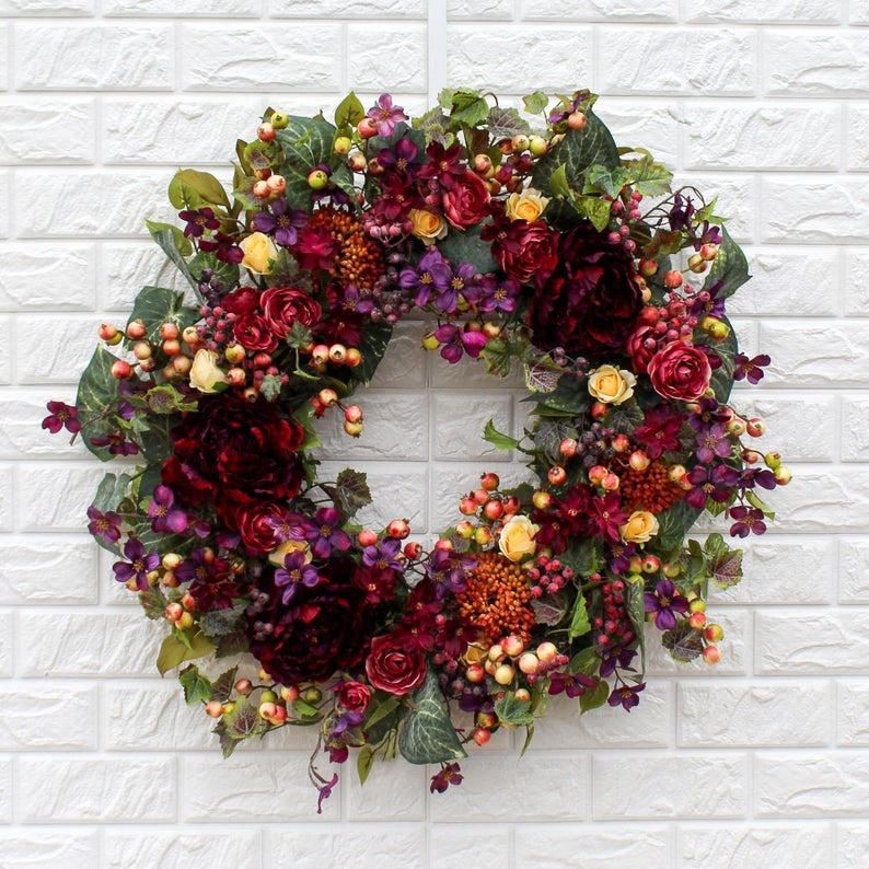 16 Gorgeous Fall Wreaths for the Front Door