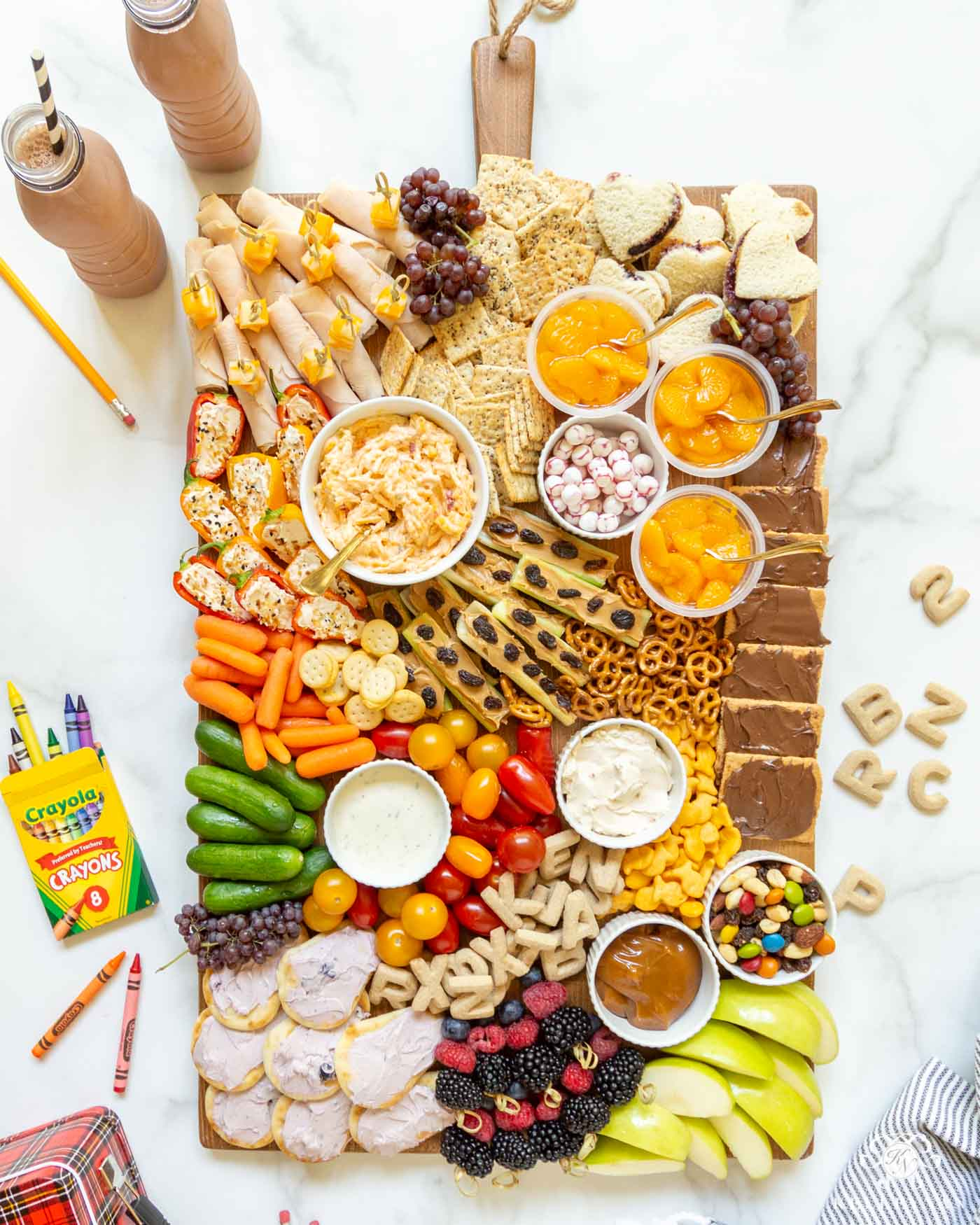 Healthy Kids Lunch Ideas -- Charcuterie Snack Board