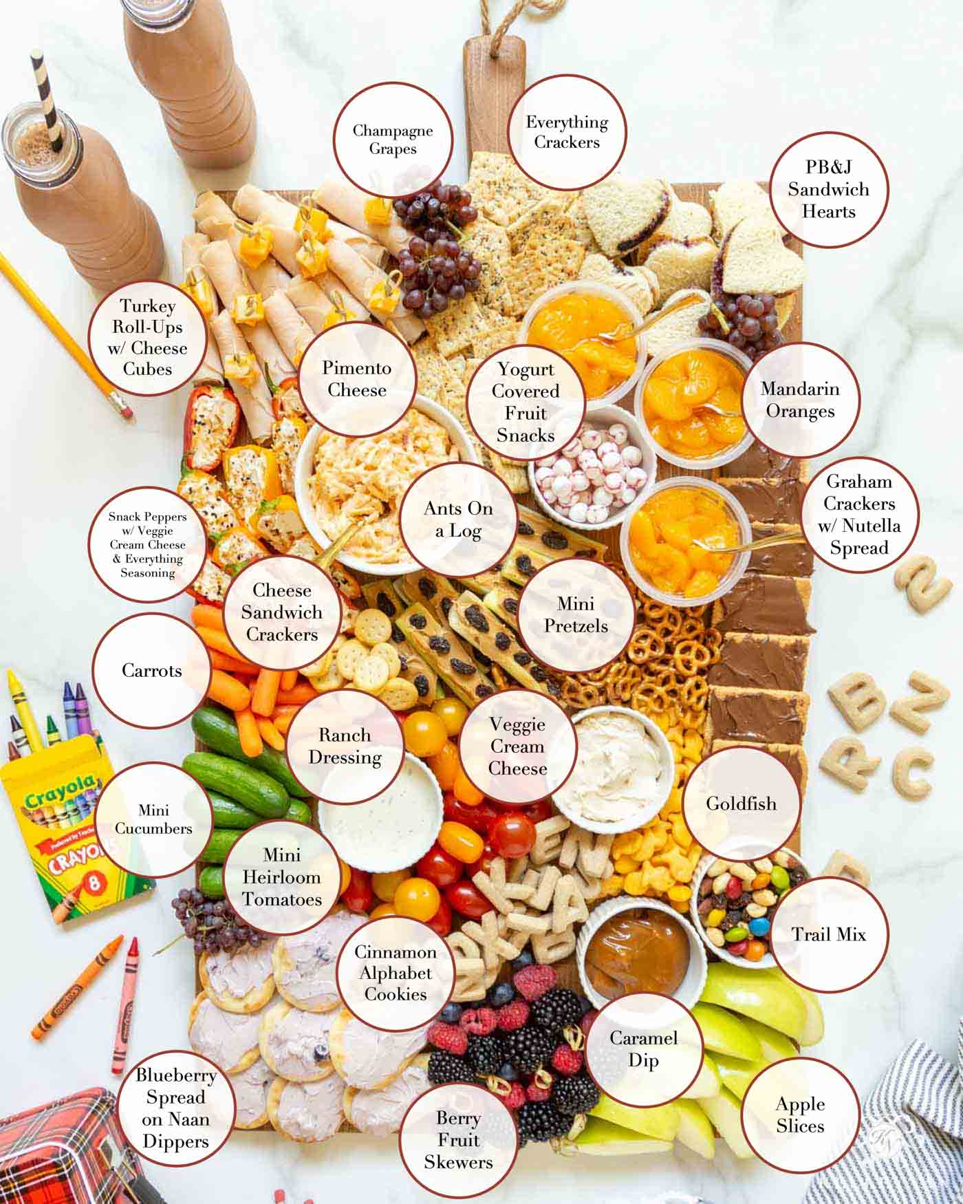 Back to School Charcuterie Board for Kids!