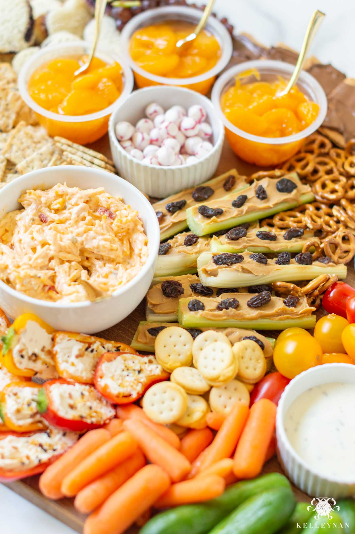 Kids At Home Lunch Ideas -- Charcuterie Board of Favorite Snacks!