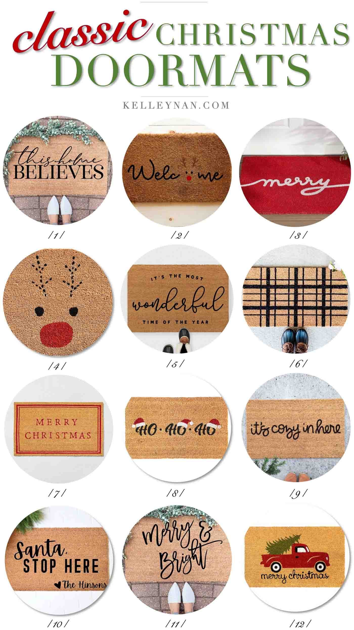 Christmas Doormats to Spruce Up Your Holiday Front Porch!