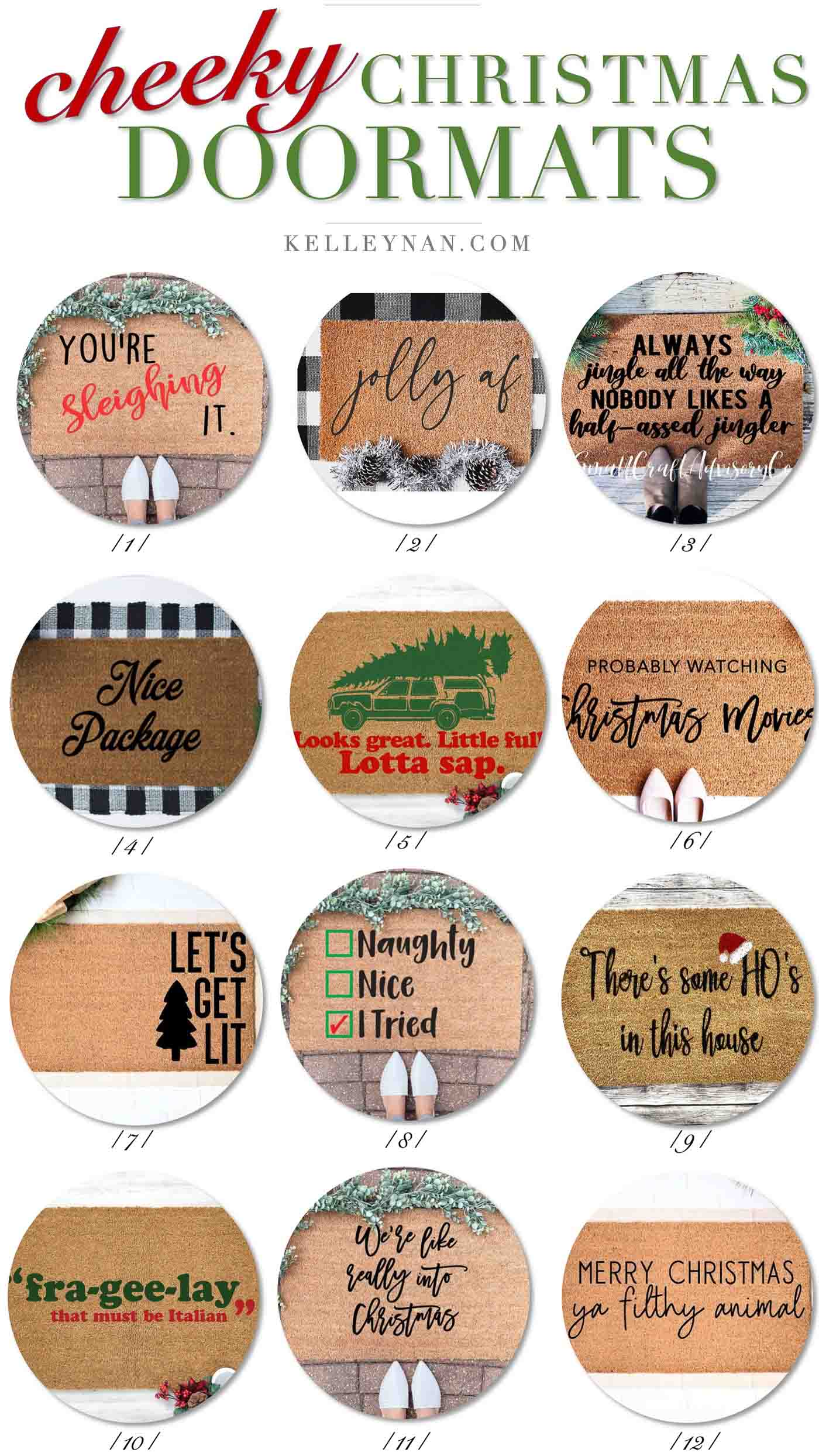Christmas Doormats to Dress Up Your Front Door and Porch!