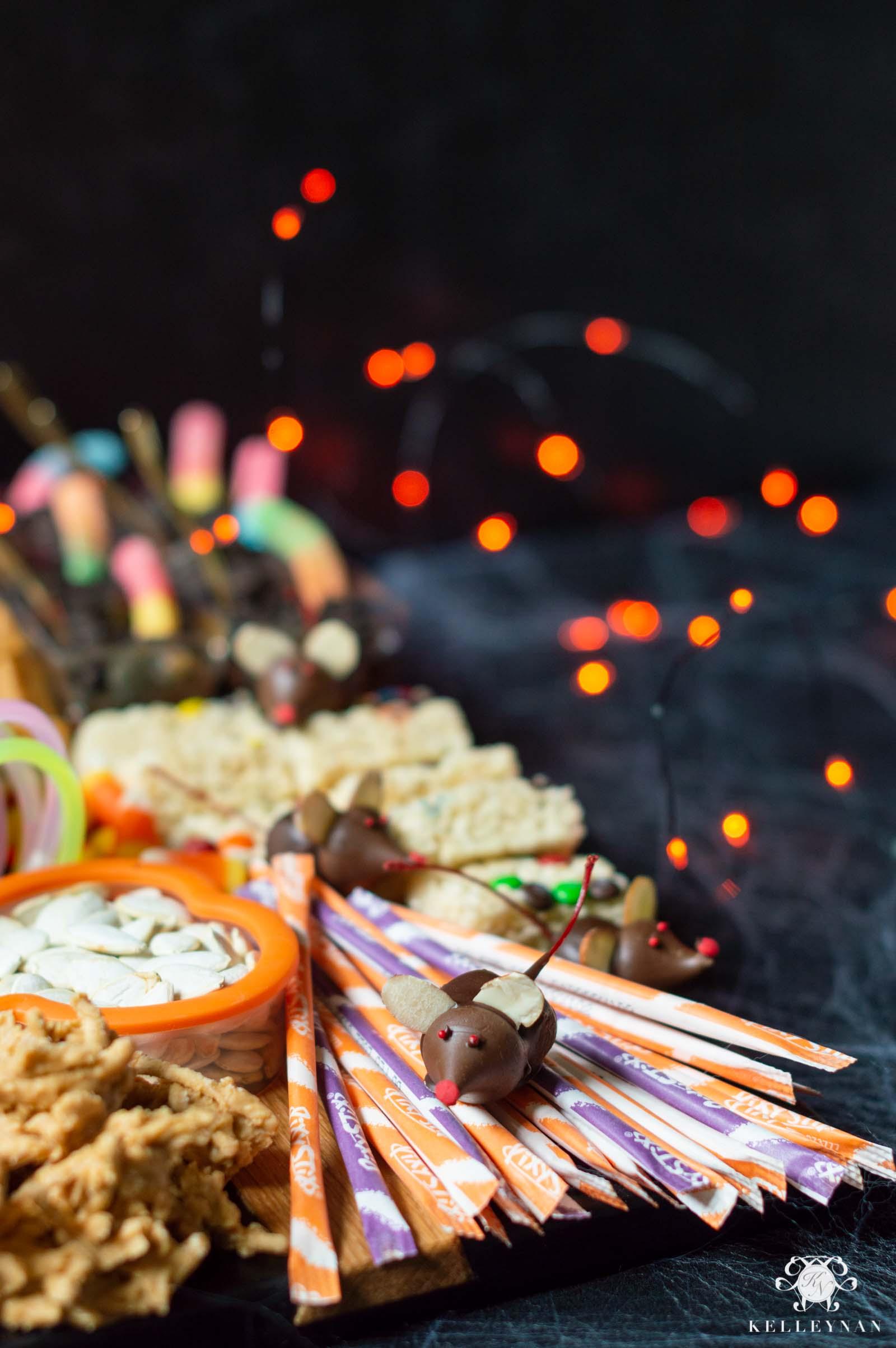 The Ultimate Halloween Charcuterie Board wit Spooky Snacks & Treats
