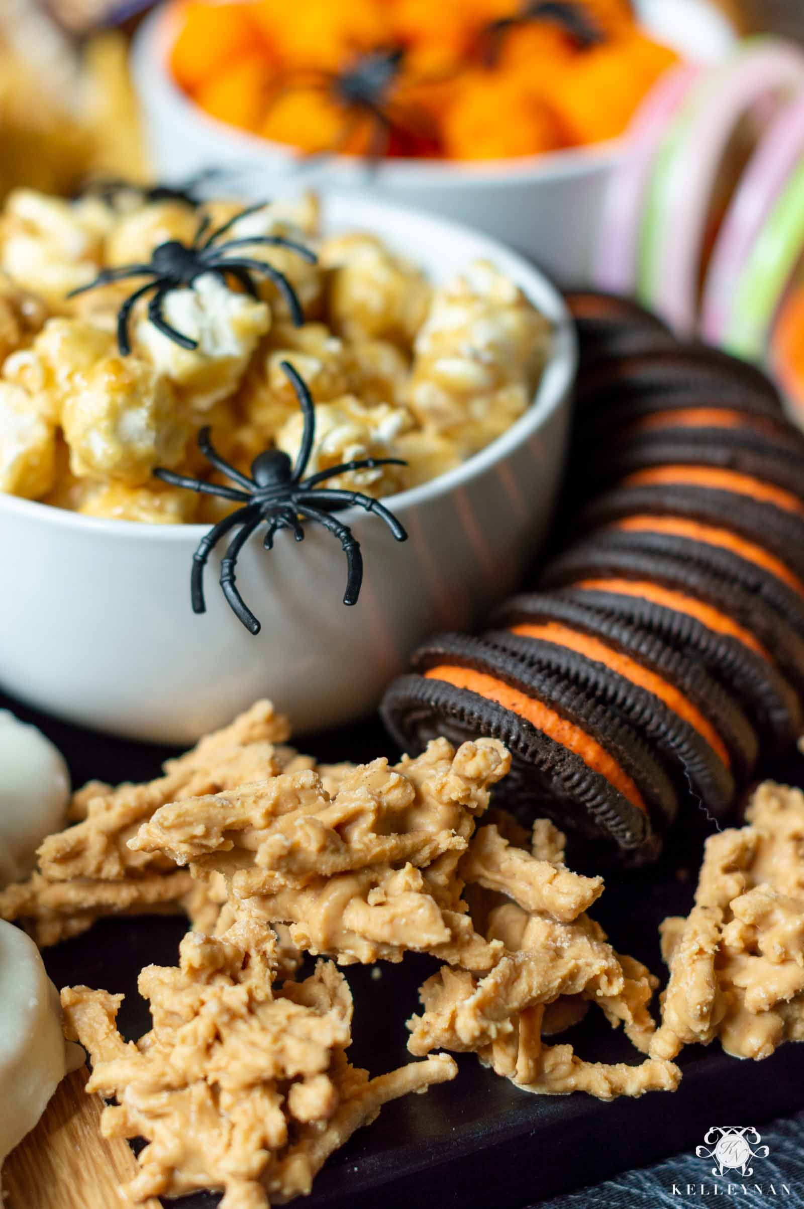 The Ultimate Halloween Trick or Treat Board -- All the Snacks; No Cheese Necessary
