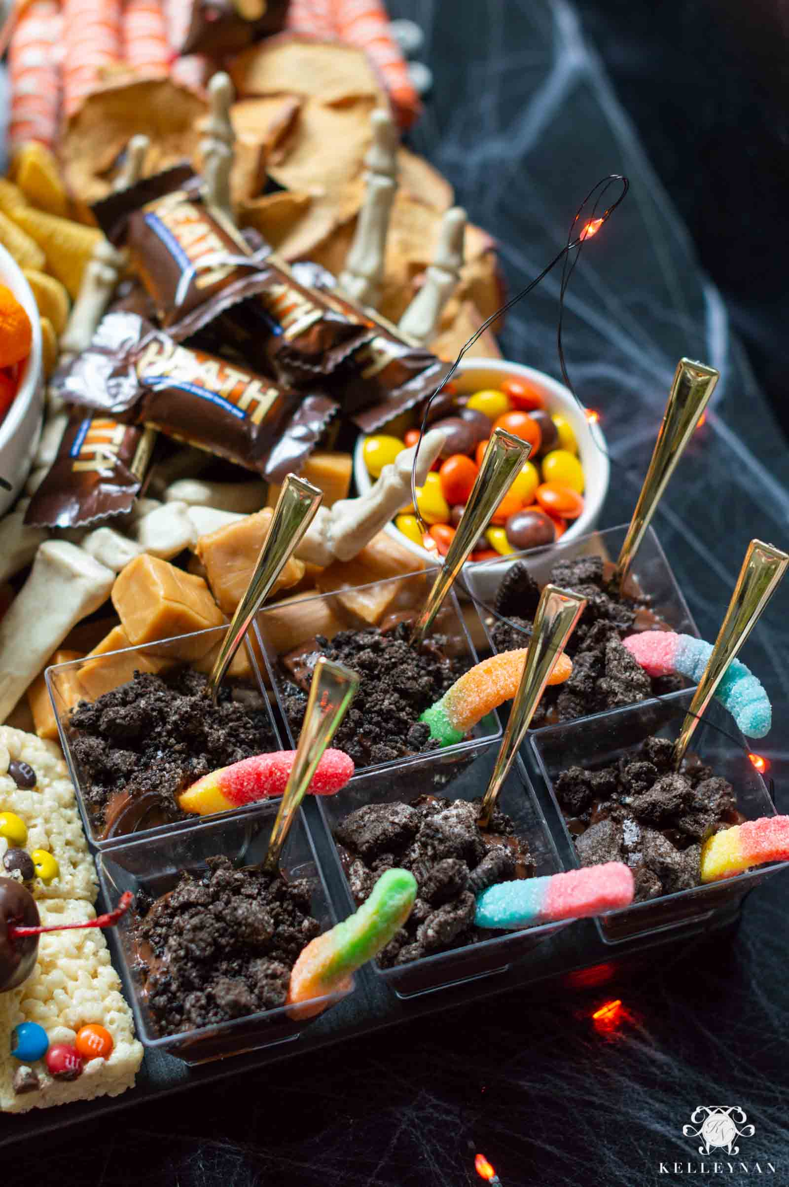 Easy, Spooky Halloween Snack Ideas -- Compiled on the Ultimate Trick or Treat Halloween Charcuterie Board